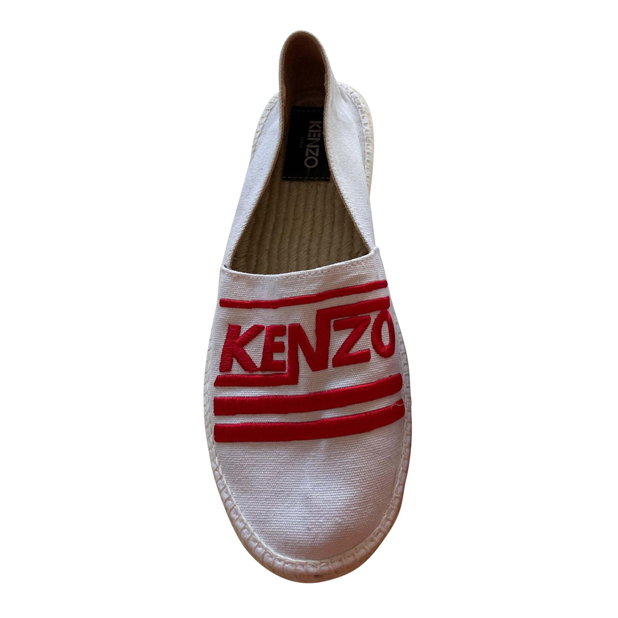 Sandals KENZO White, off-white, ecru