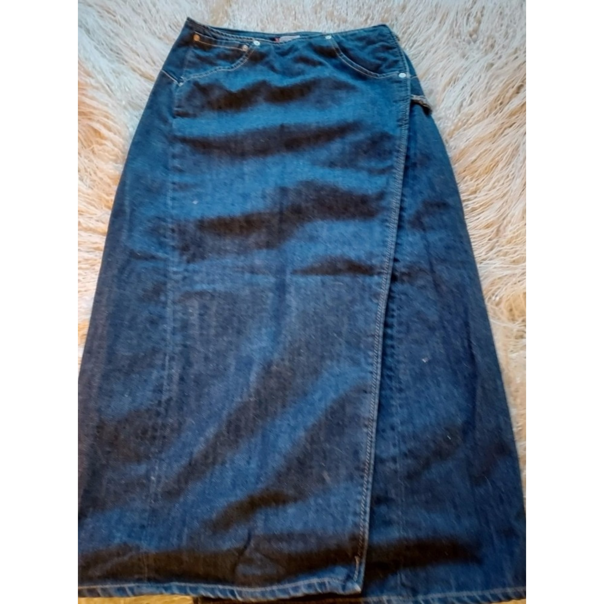 Jupe en jean LEVI'S Bleu, bleu marine, bleu turquoise