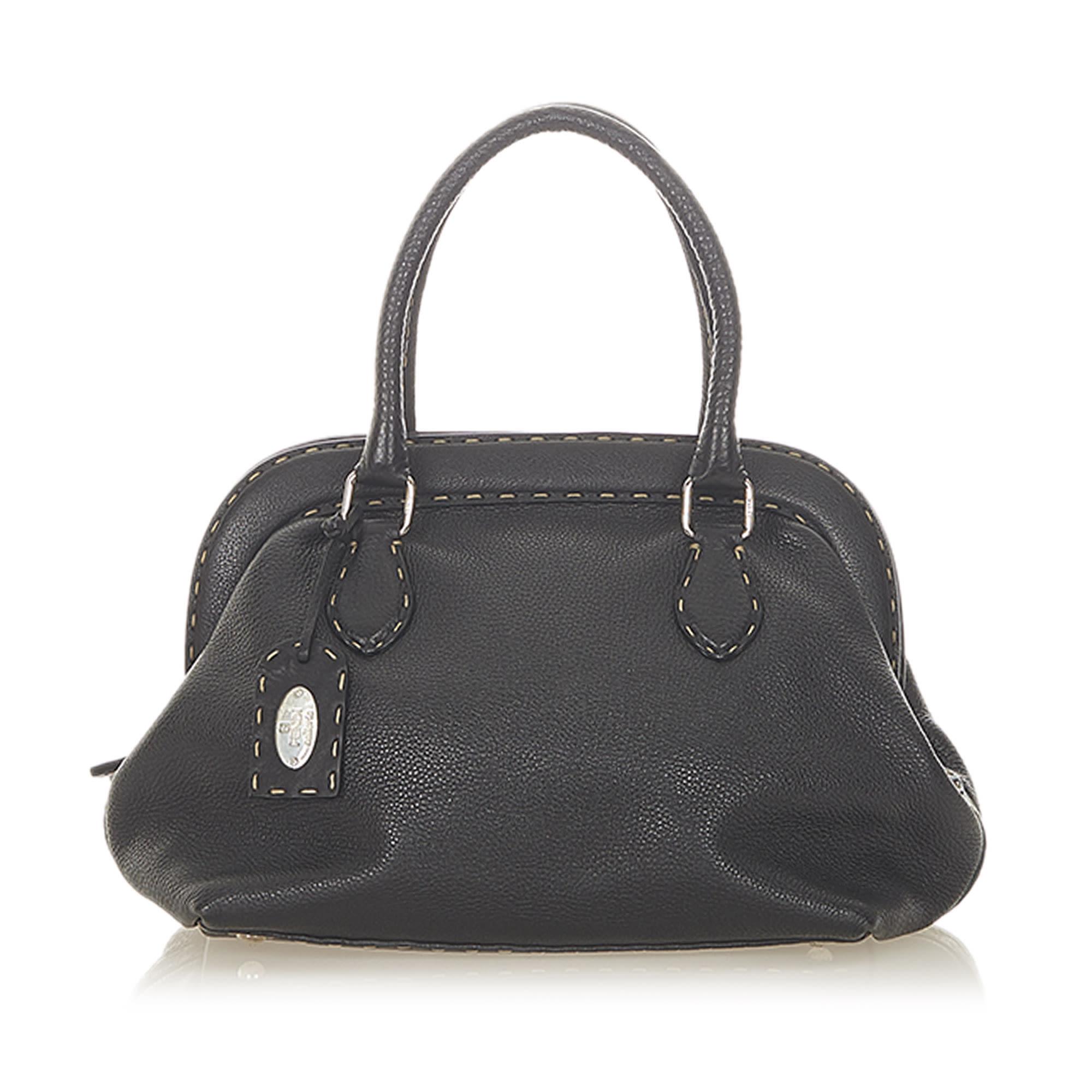 Lederhandtasche FENDI Black