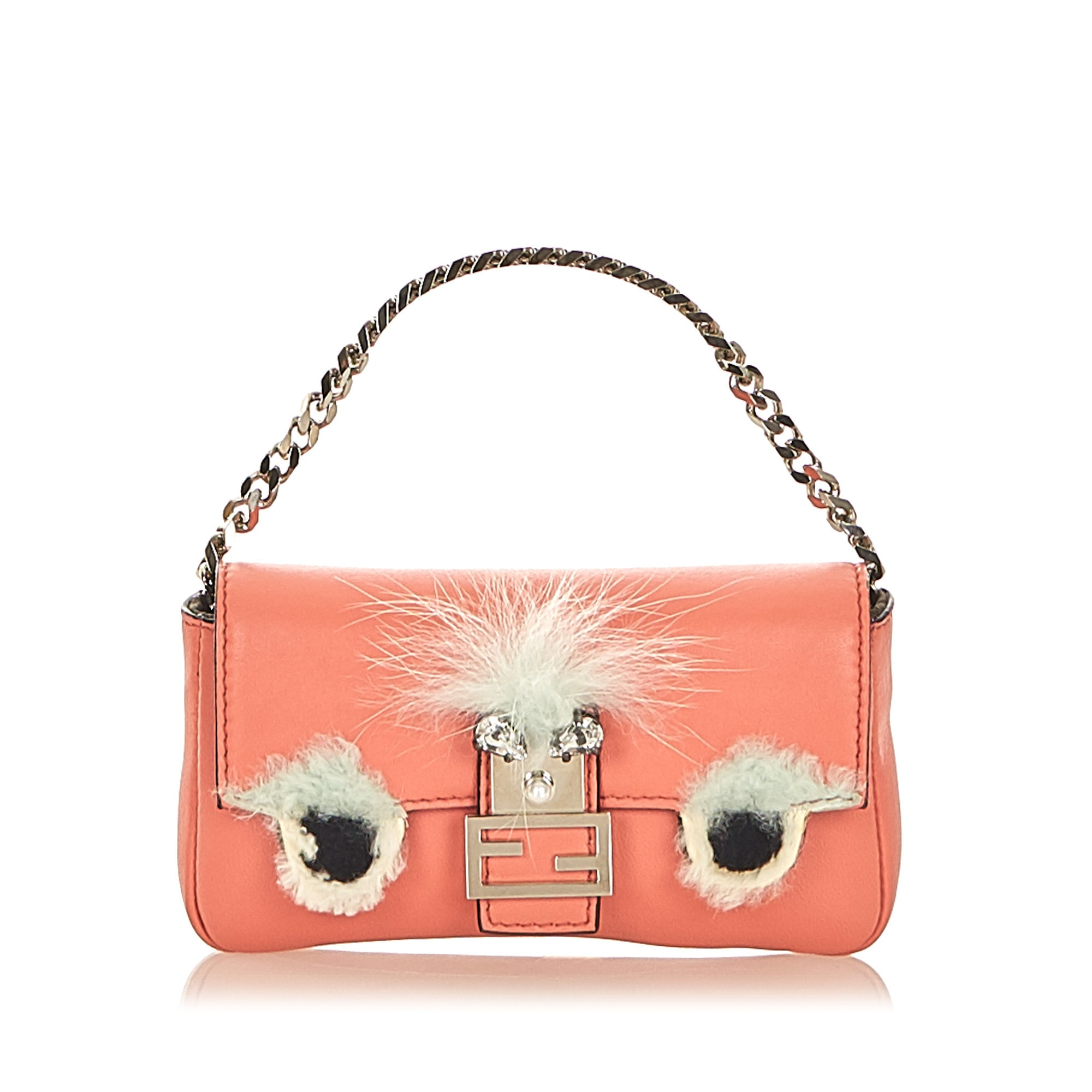 Lederhandtasche FENDI Pink