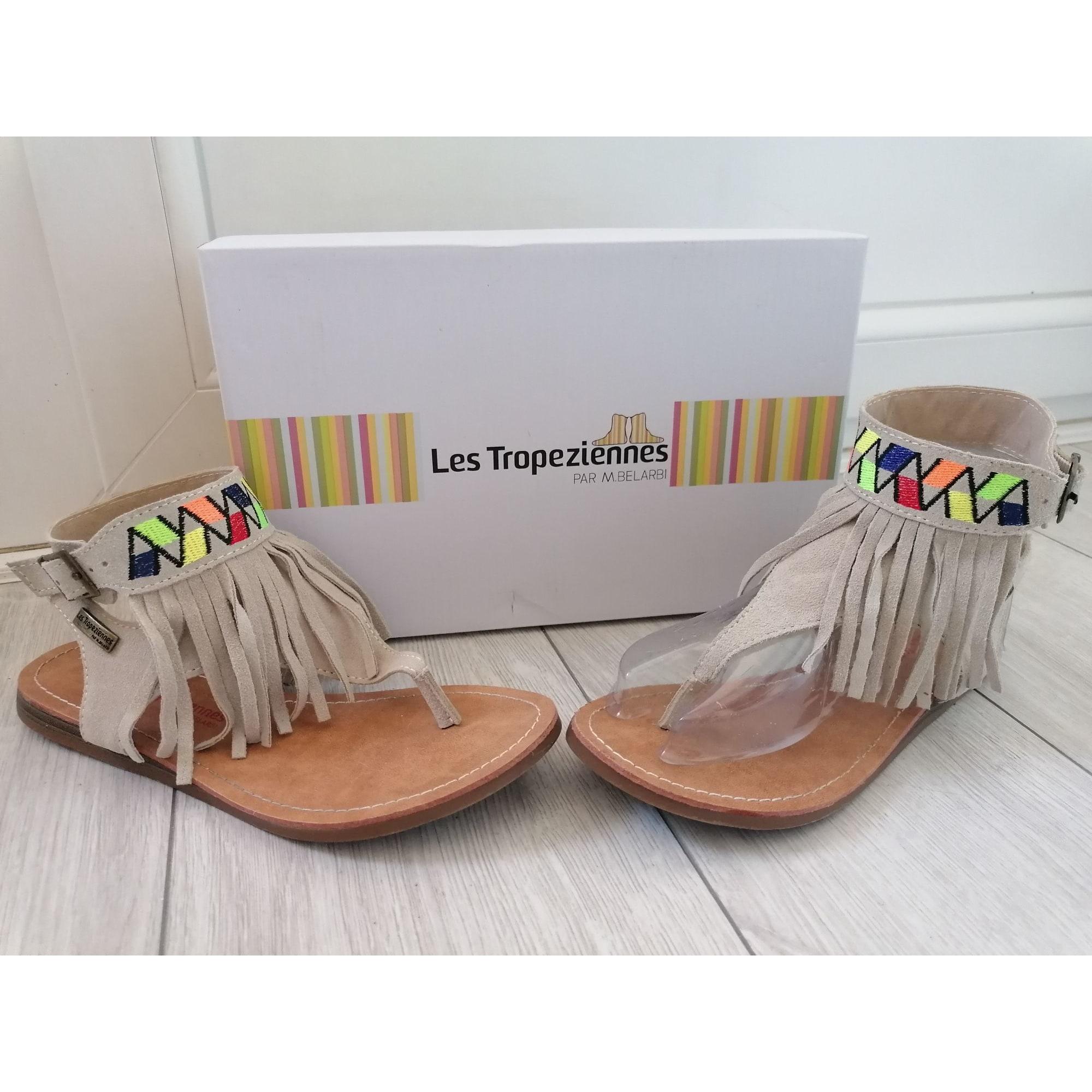 Sandales plates  LES TROPÉZIENNES PAR M. BELARBI Beige, camel