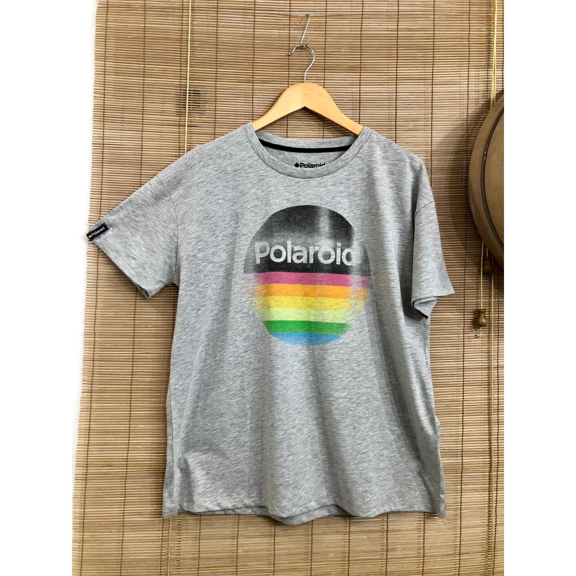 Tee-shirt POLAROID Gris, anthracite