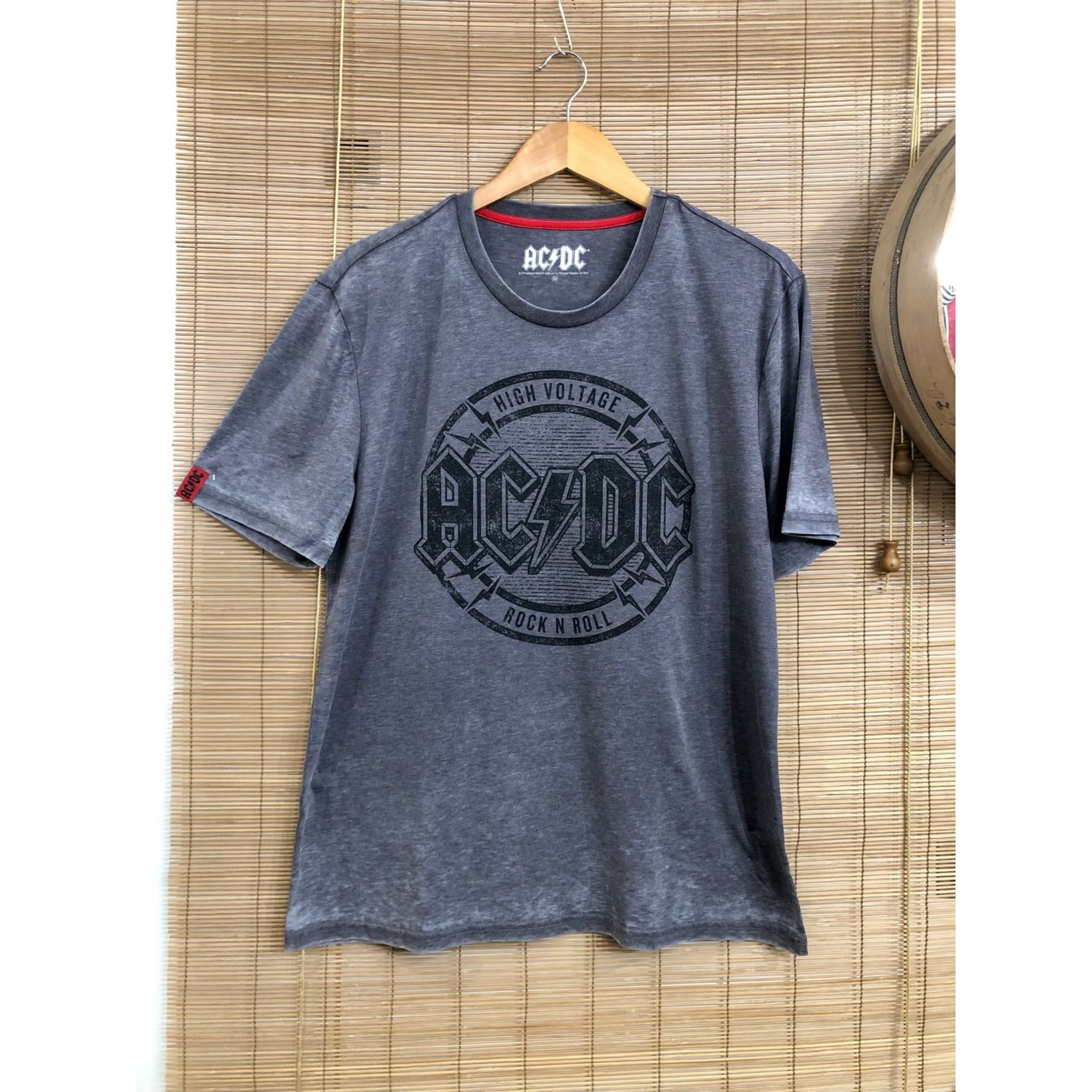 Tee-shirt AC/DC Gris, anthracite