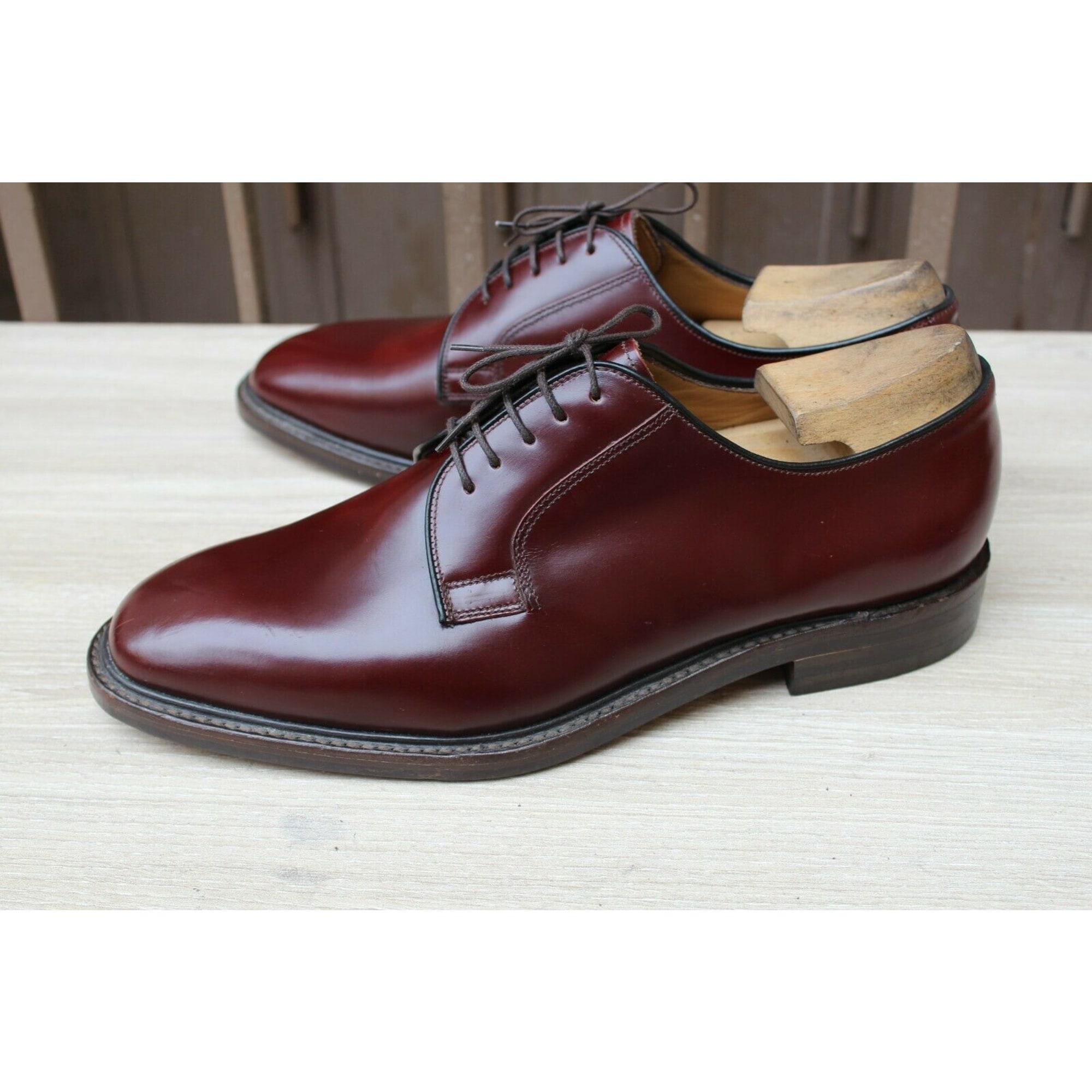 Chaussures à lacets LOAKE Rouge, bordeaux