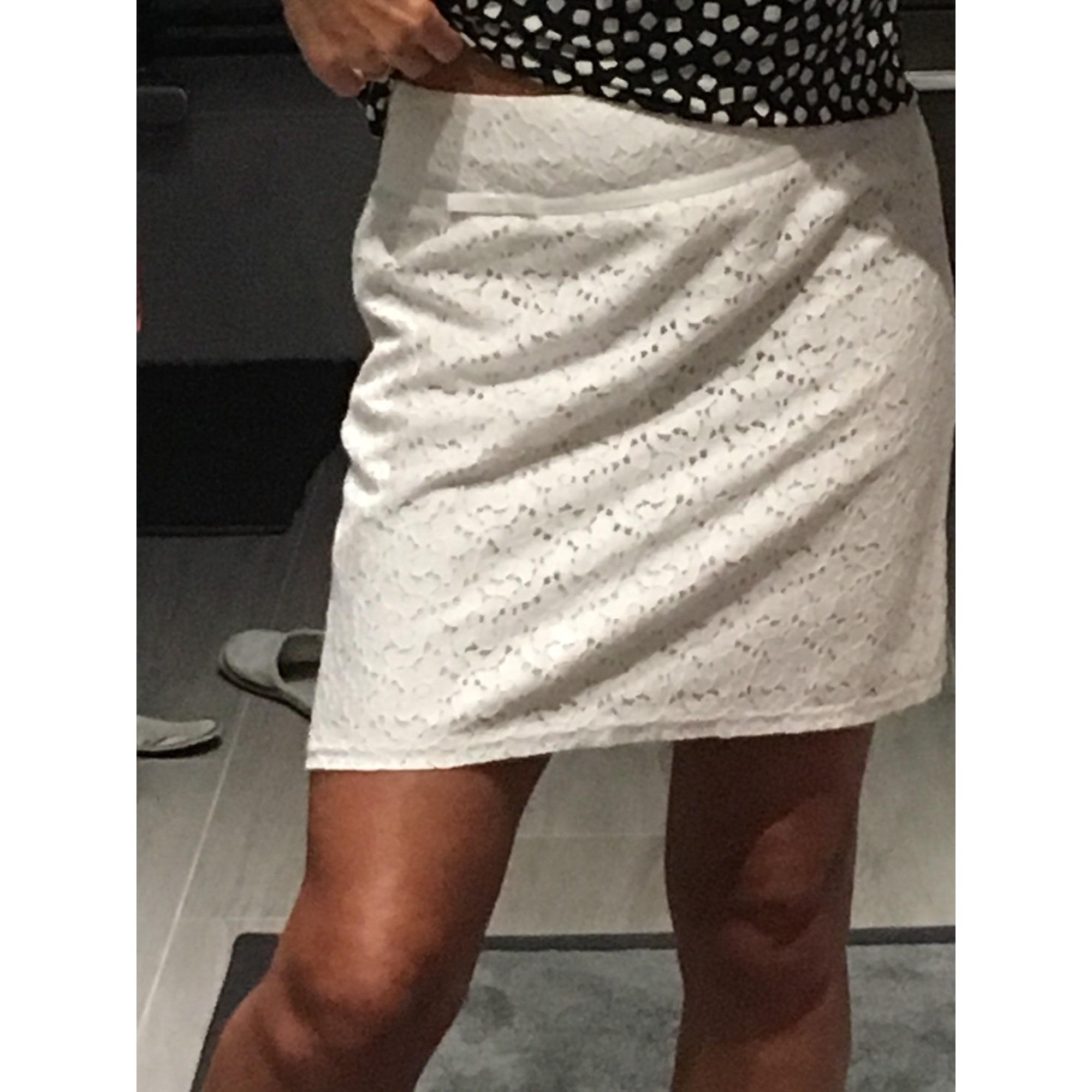 Jupe courte GRAIN DE MALICE Blanc, blanc cassé, écru