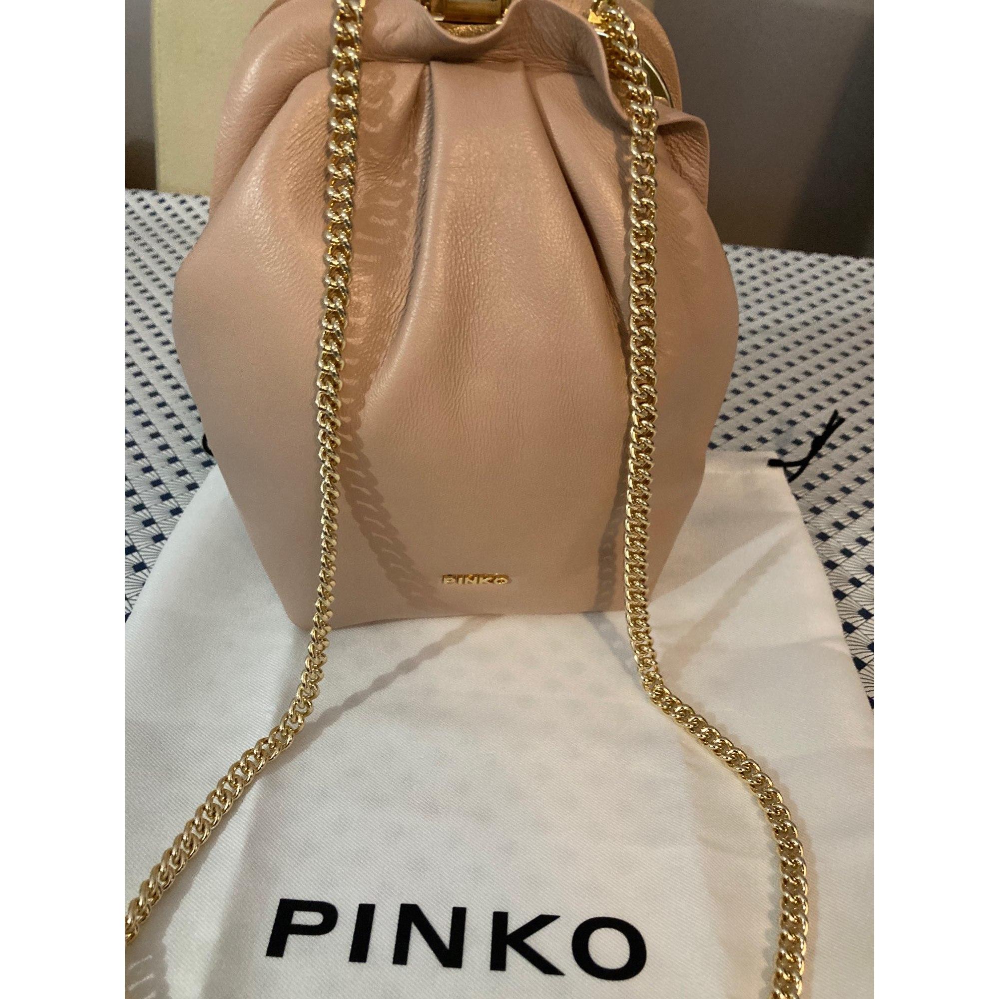 Sac pochette en cuir PINKO Rose, fuschia, vieux rose