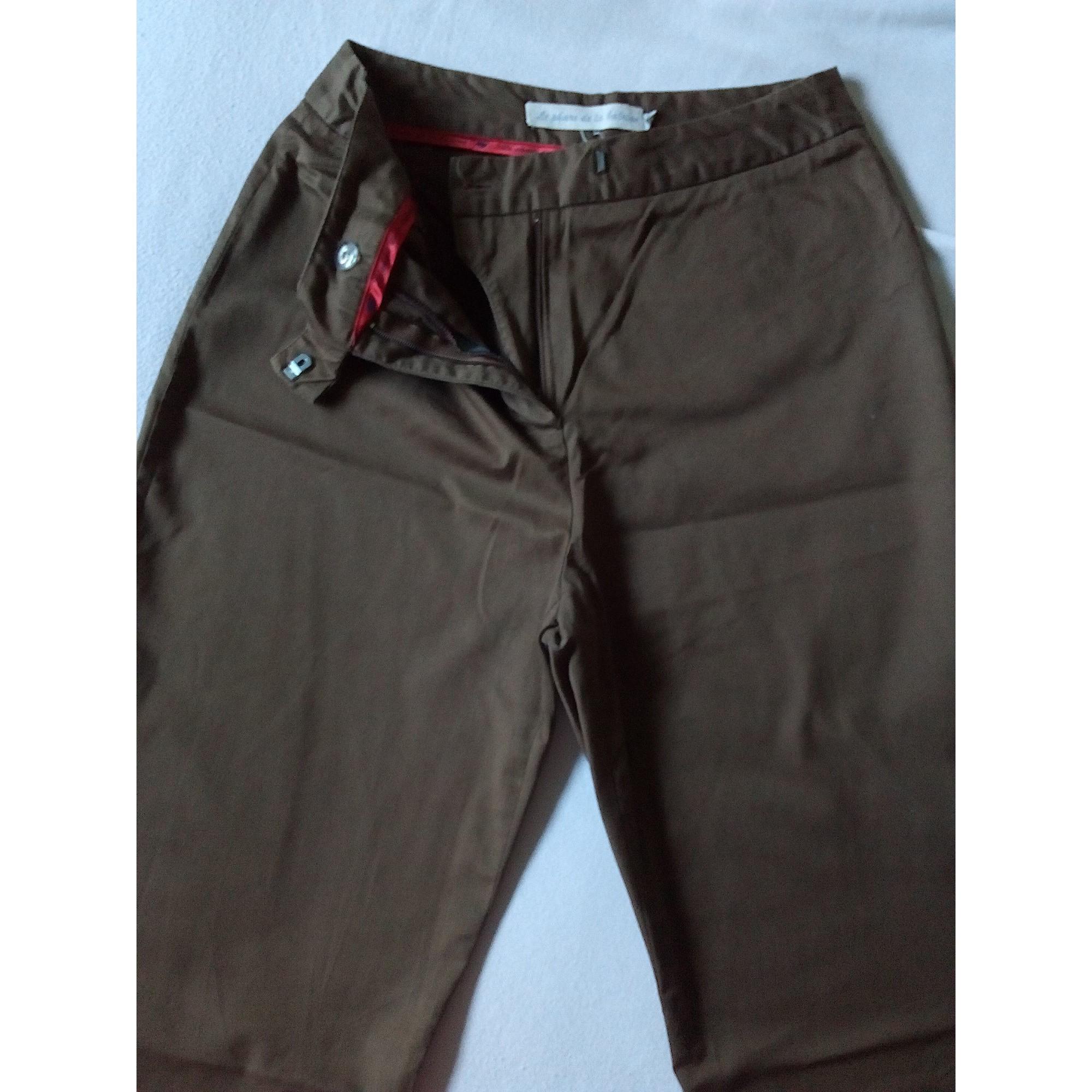 Pantalon droit LE PHARE DE LA BALEINE Marron