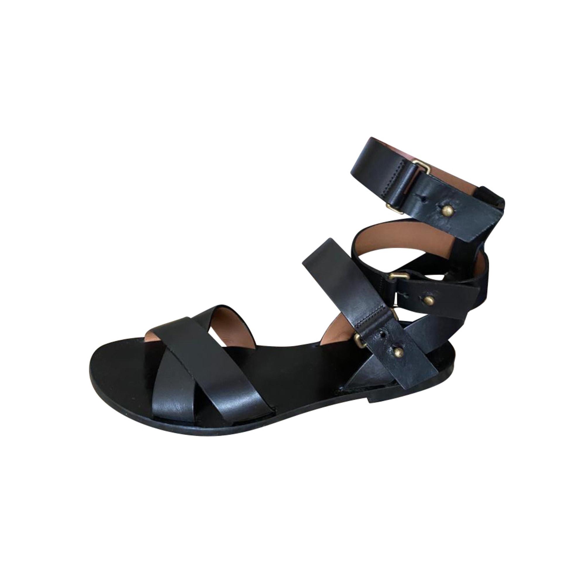 Sandales plates  BA&SH Noir