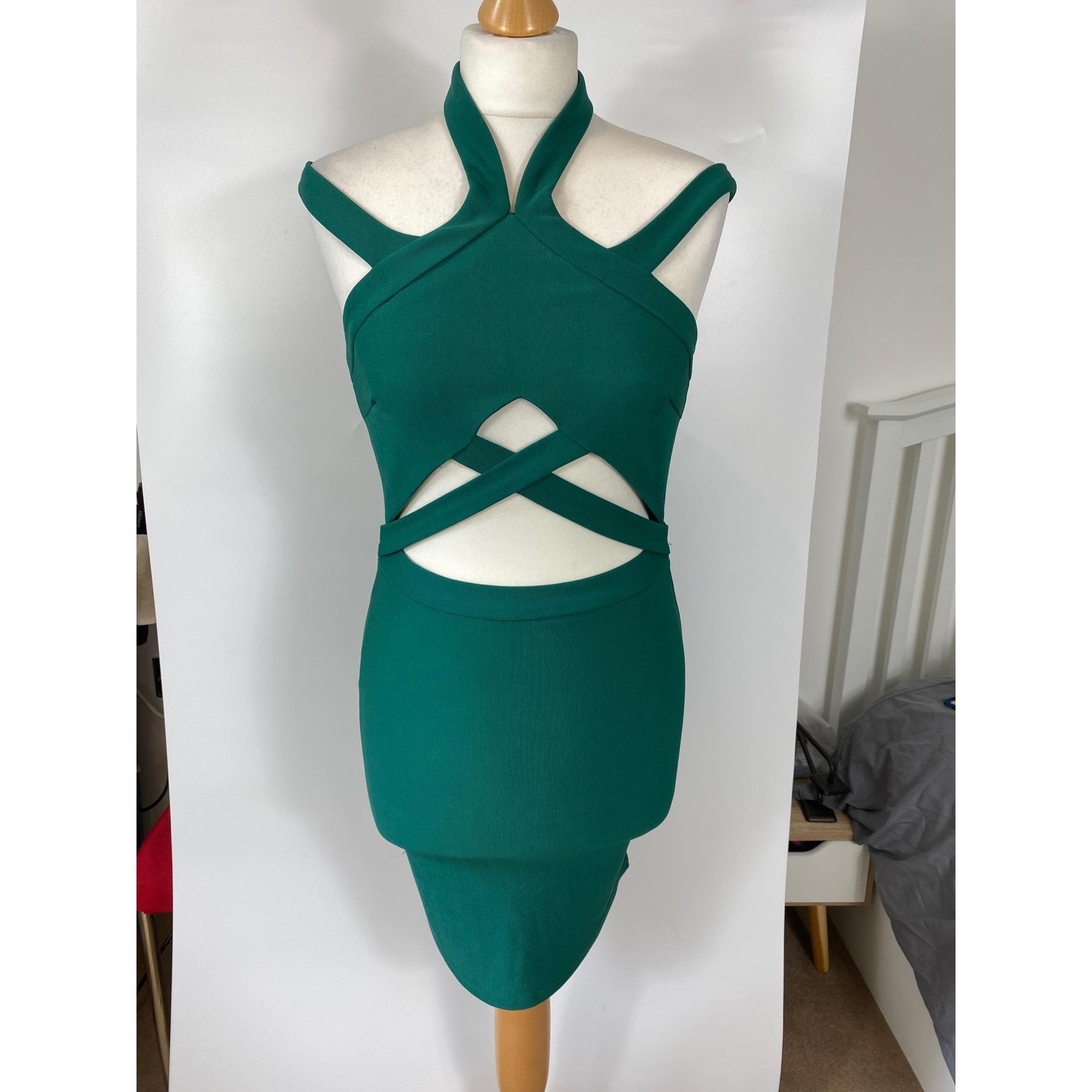 Robe courte MISSGUIDED Vert