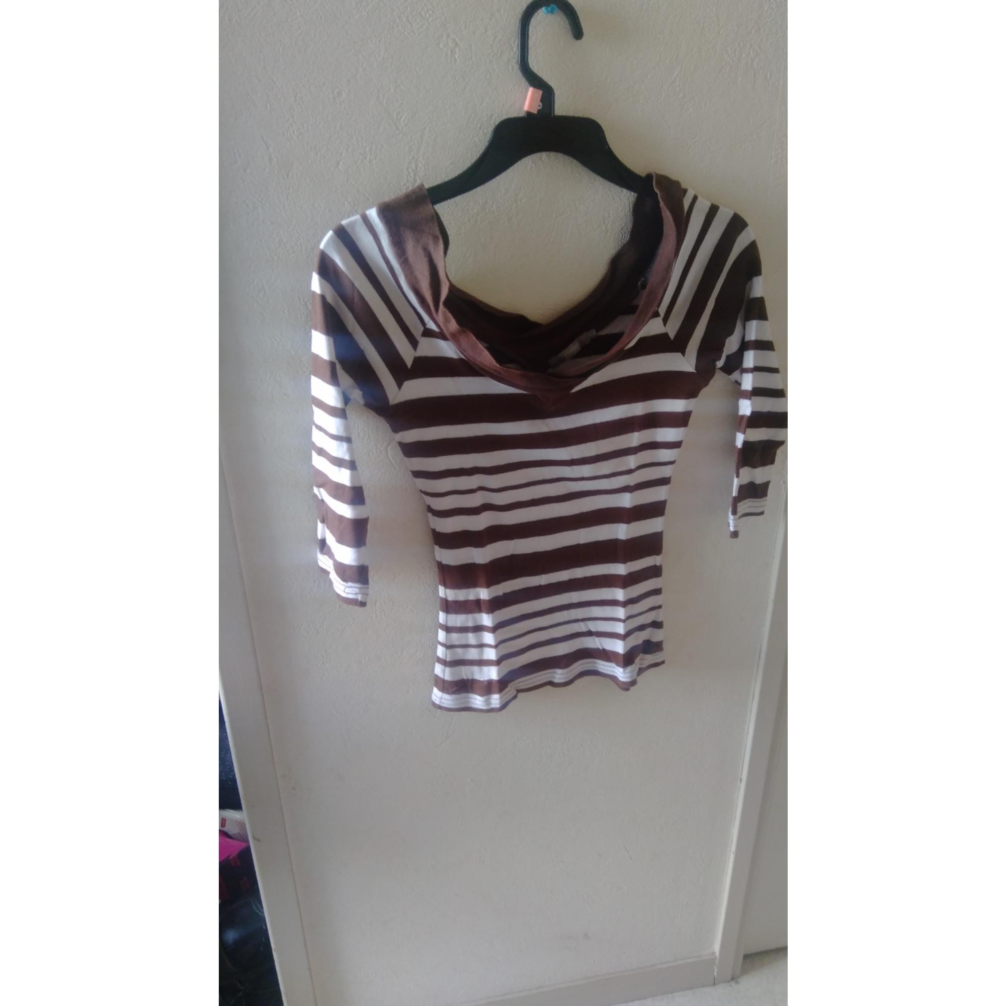 Top, tee-shirt 3 SUISSES Marron