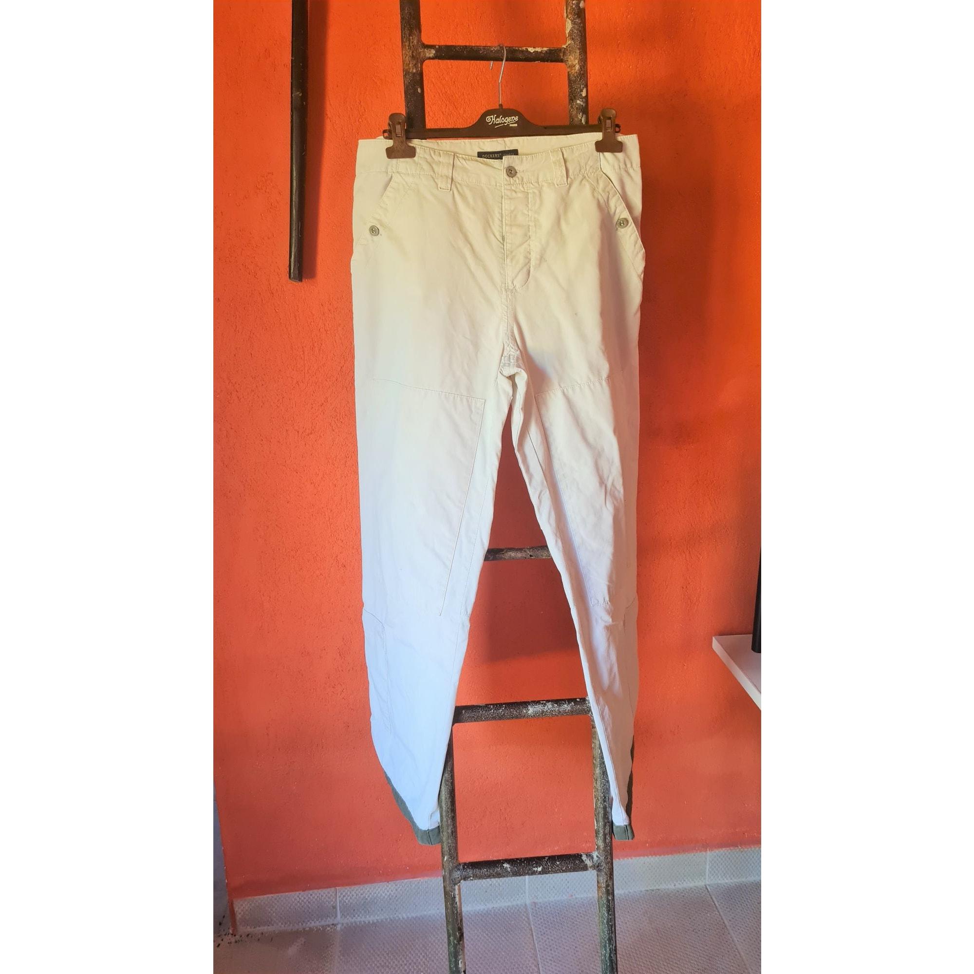 Wide Leg Pants DOCKERS White, off-white, ecru