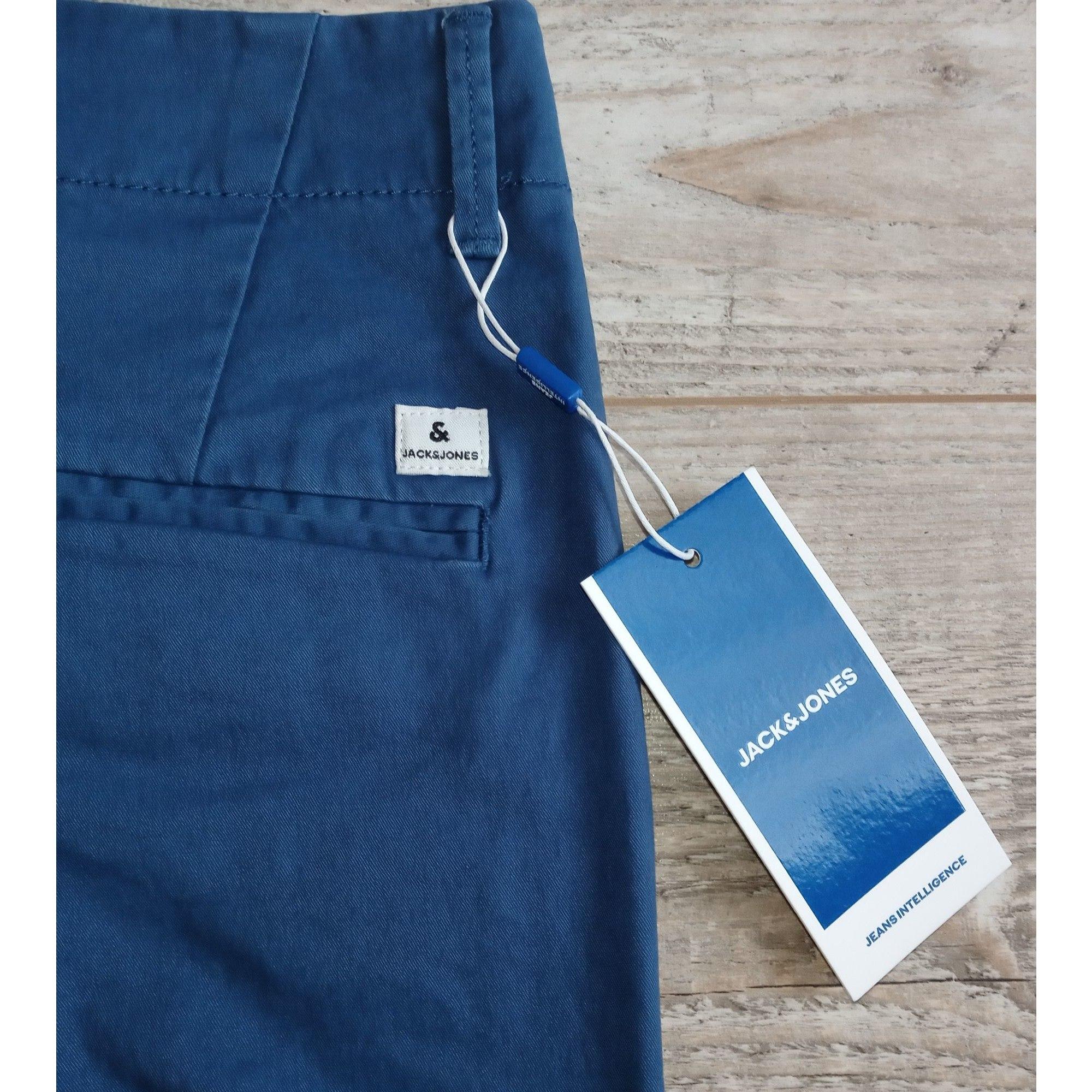 Bermuda JACK & JONES Bleu, bleu marine, bleu turquoise