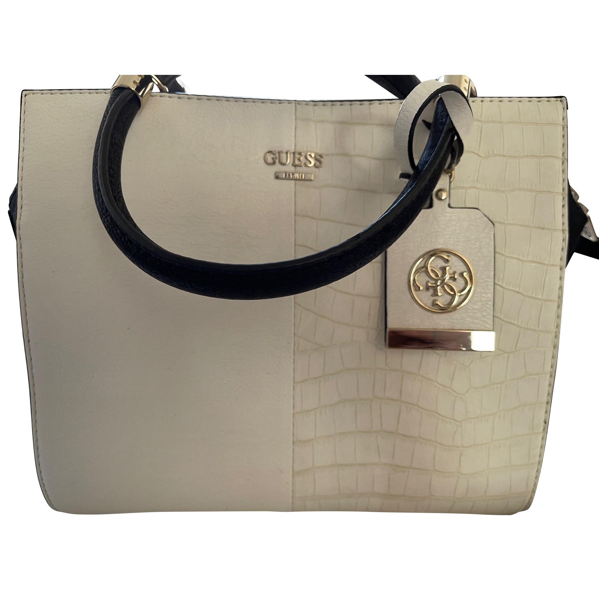 Lederhandtasche GUESS Weiß, elfenbeinfarben