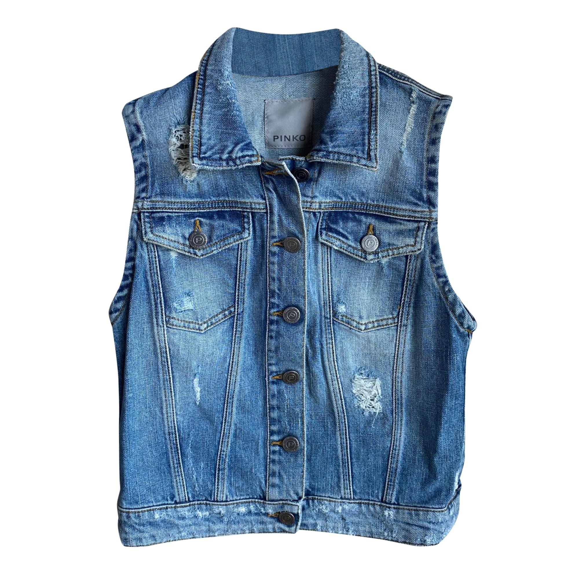 Veste en jean PINKO Bleu, bleu marine, bleu turquoise