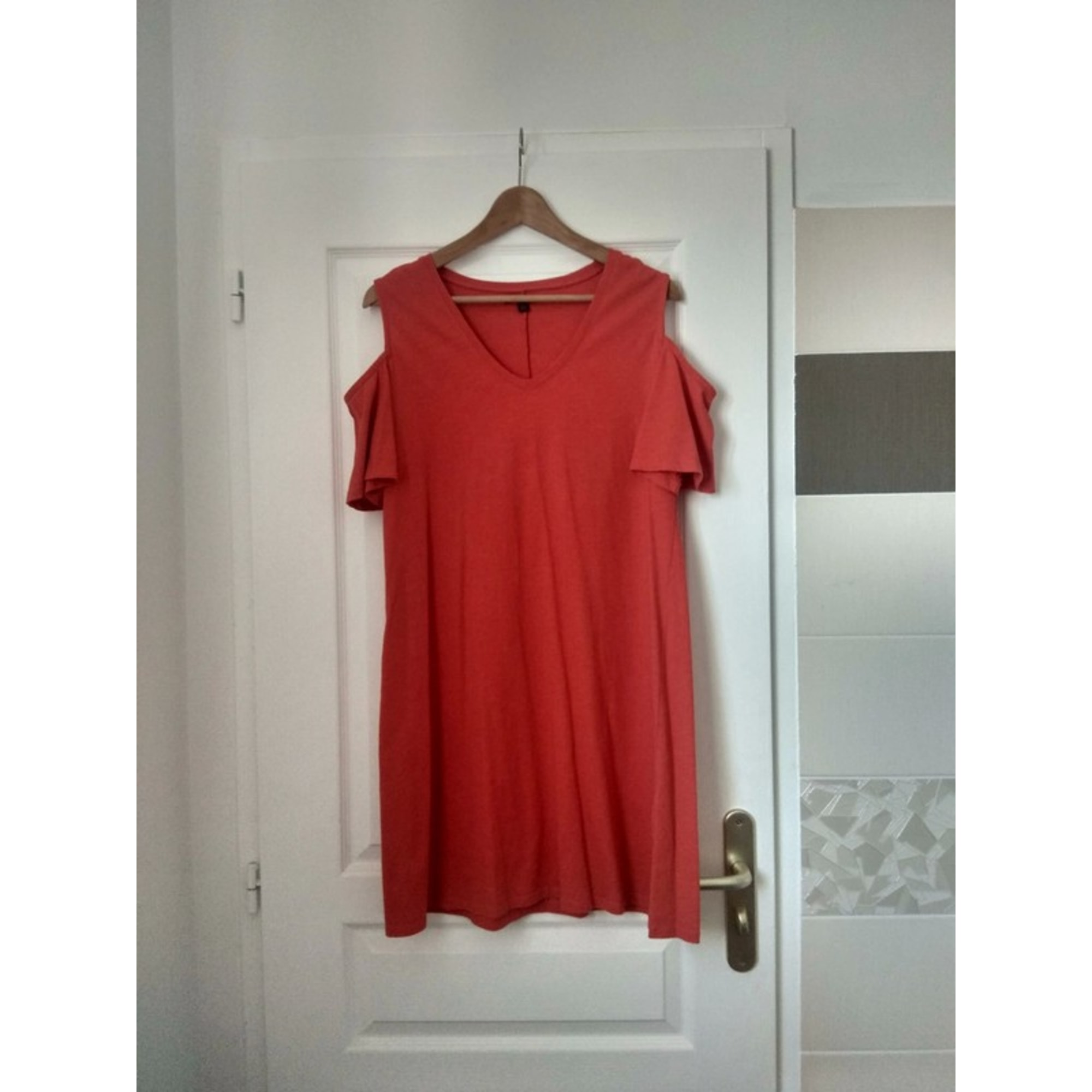 Robe courte KIABI Rouge, bordeaux