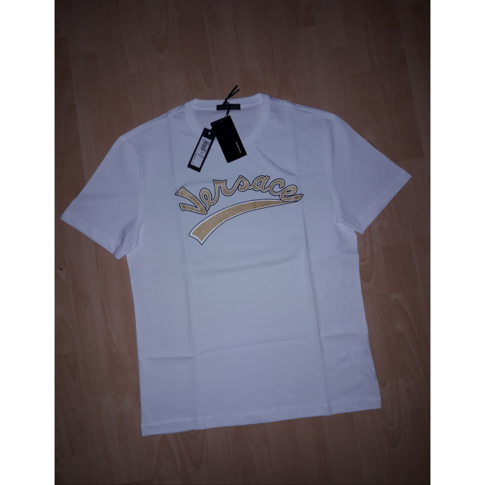 T-shirt VERSACE White, off-white, ecru