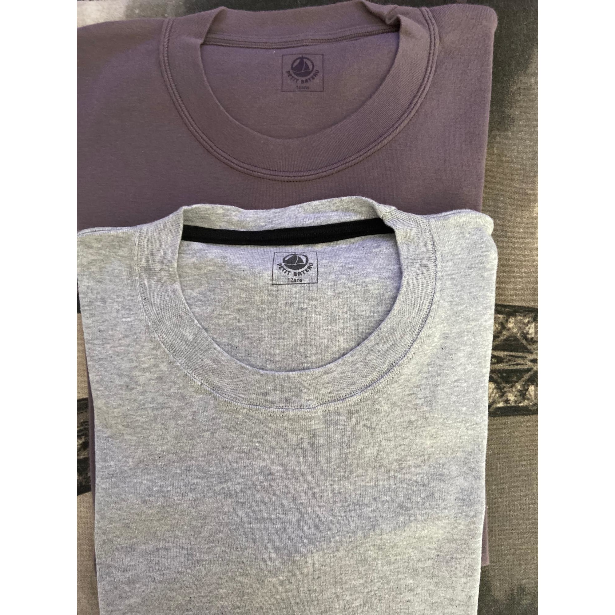 Tee-shirt PETIT BATEAU Gris, anthracite