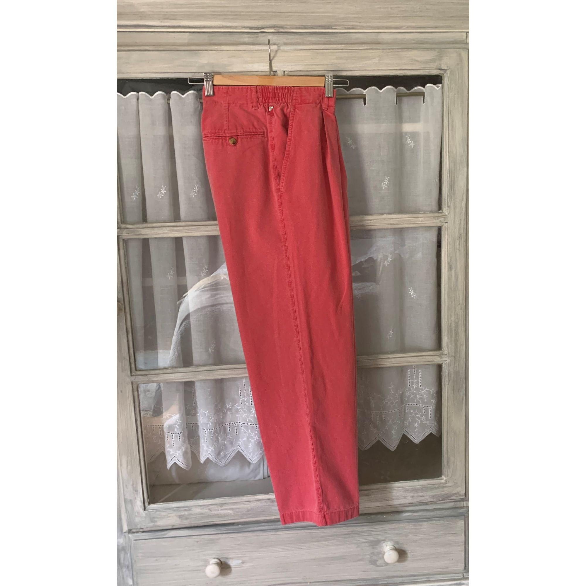 Pantalon droit NEW MAN Rouge, bordeaux