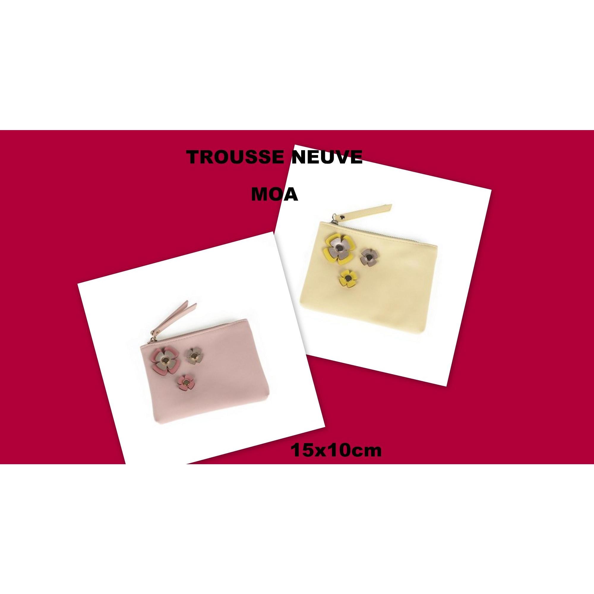Pochette MOA jaune et rose