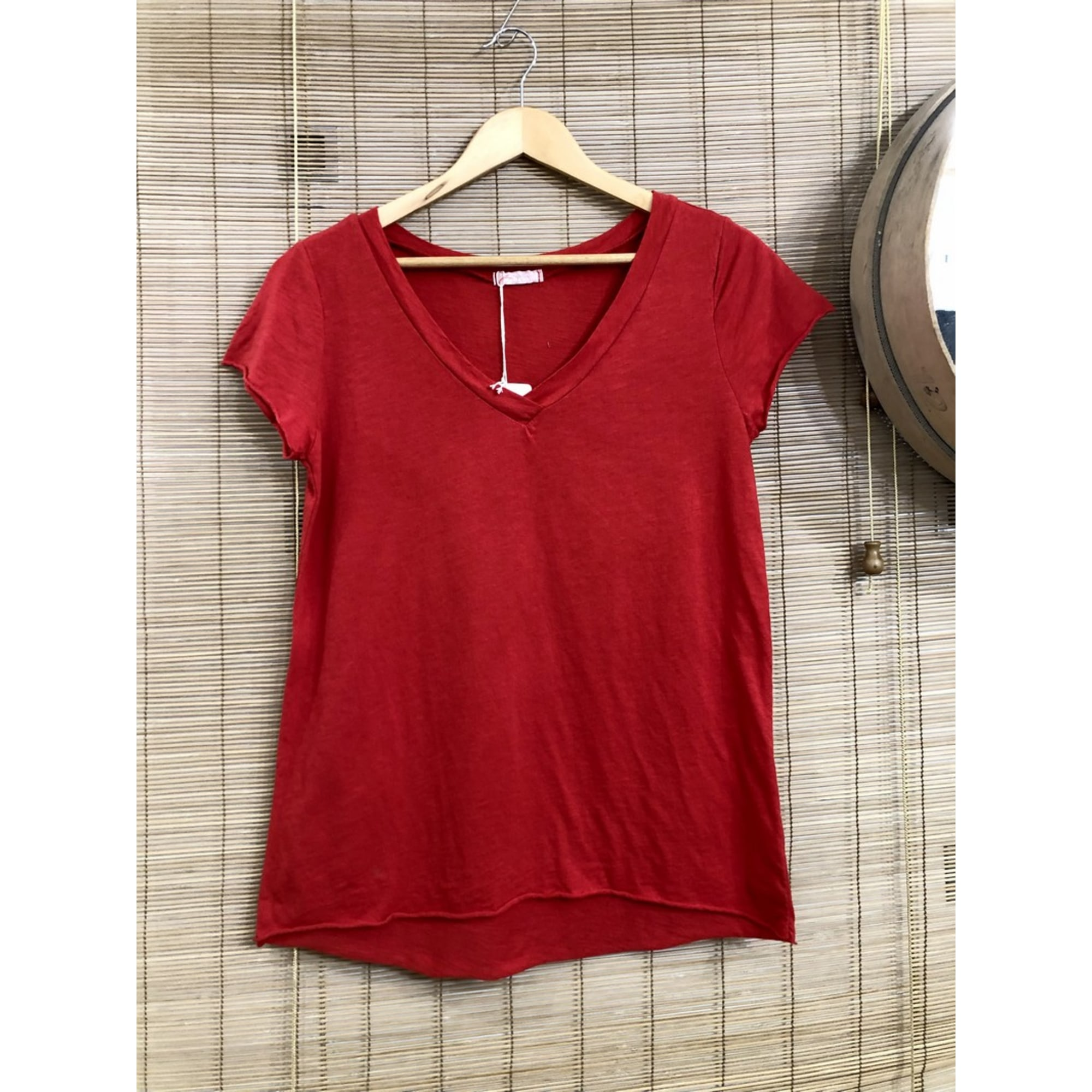 Top, tee-shirt MARQUE INCONNUE Rouge, bordeaux