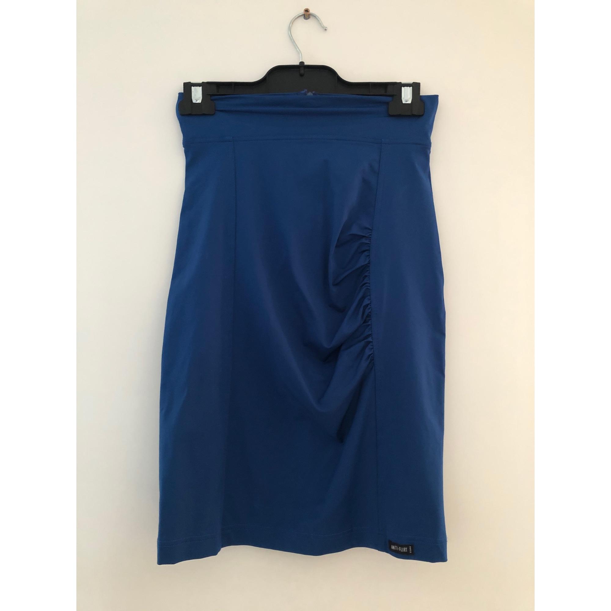 Jupe mi-longue ANTI-FLIRT Bleu, bleu marine, bleu turquoise