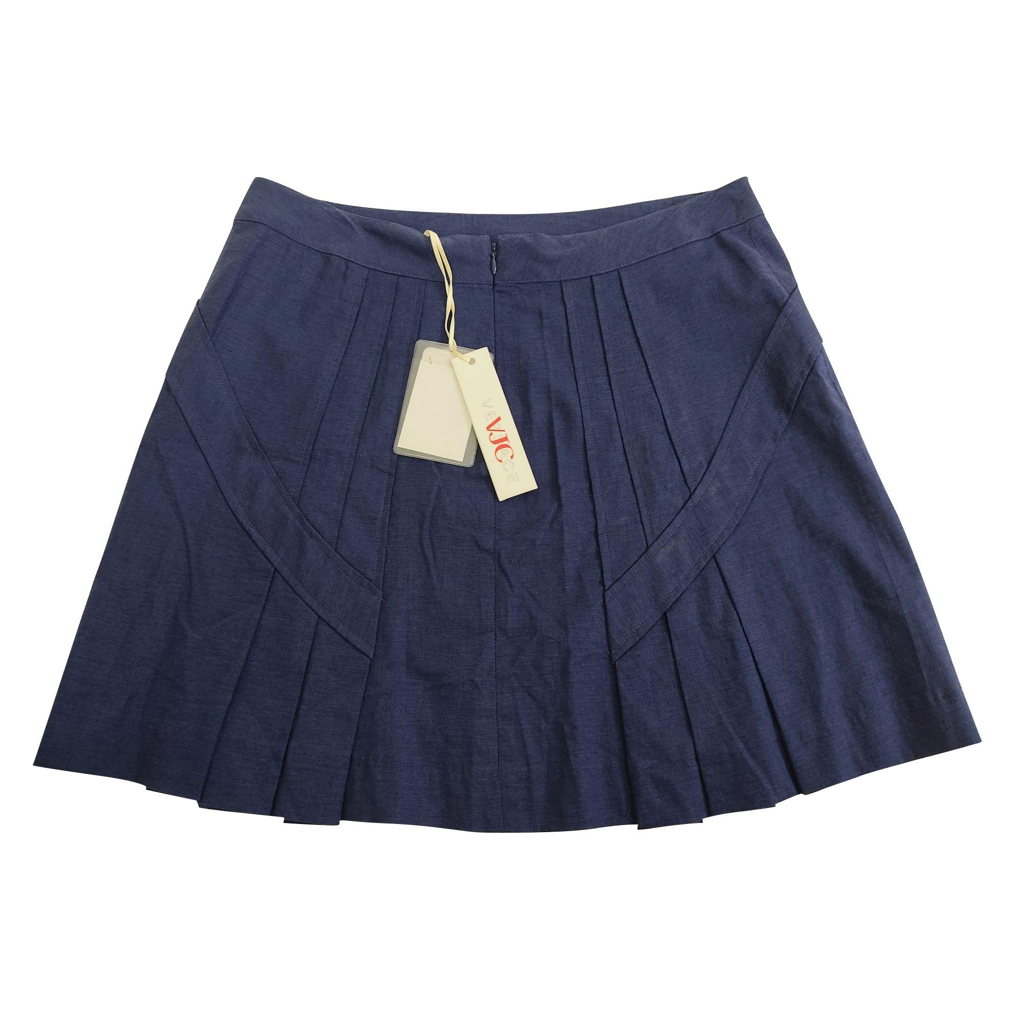 Jupe courte VERSACE Bleu, bleu marine, bleu turquoise