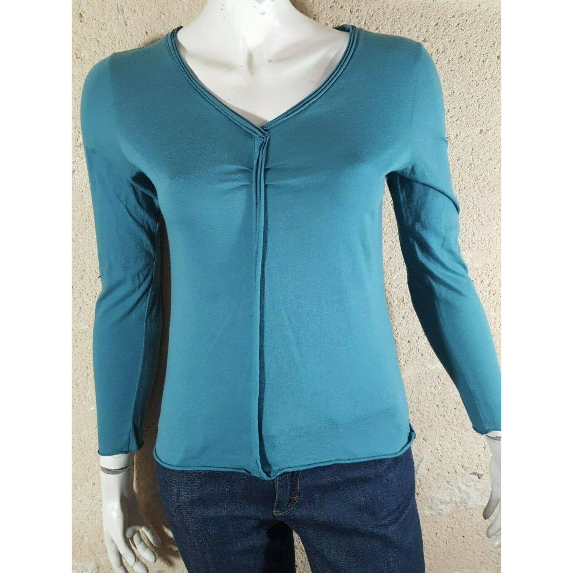 Top, tee-shirt NEW MAN Bleu, bleu marine, bleu turquoise