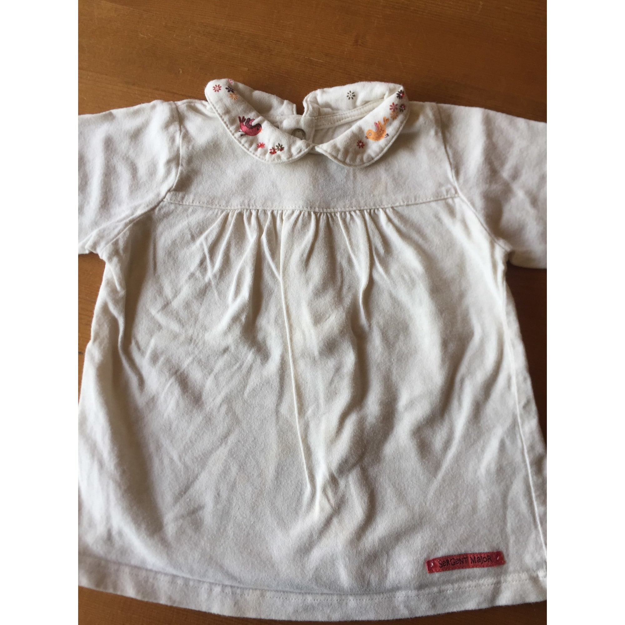 Polo SERGENT MAJOR Blanc, blanc cassé, écru