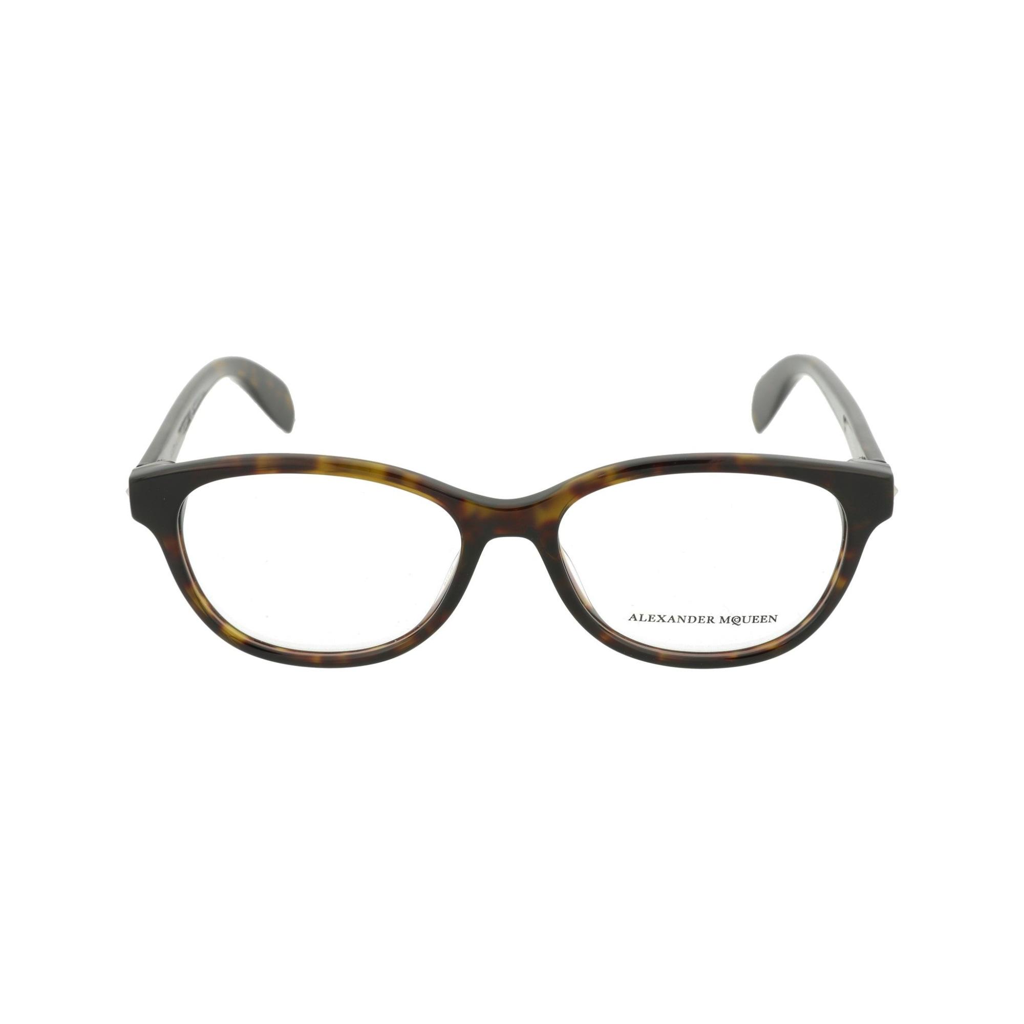 Eyeglass Frames ALEXANDER MCQUEEN Red, burgundy