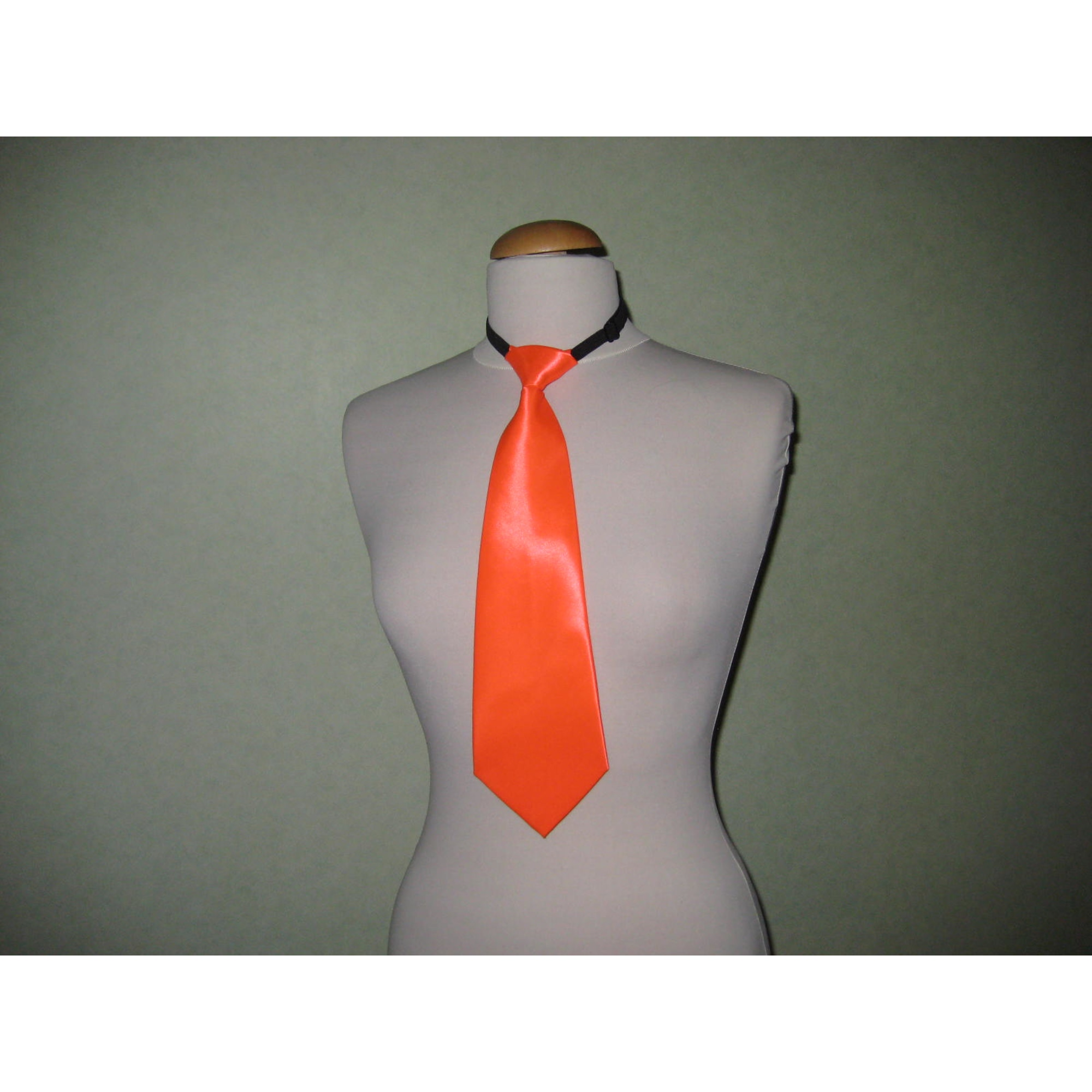 Tie MARQUE INCONNUE Orange