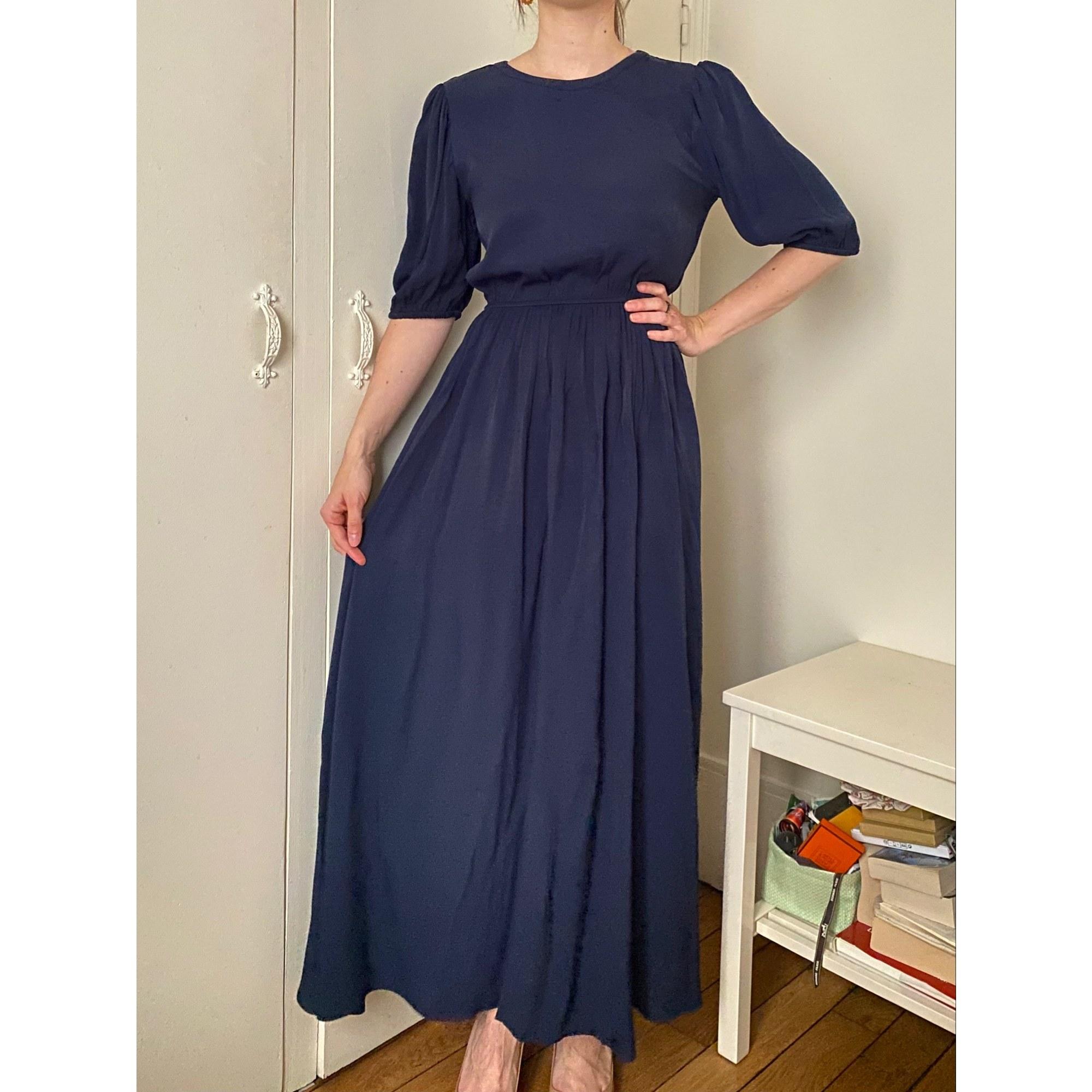 Robe longue AMERICAN VINTAGE Bleu, bleu marine, bleu turquoise