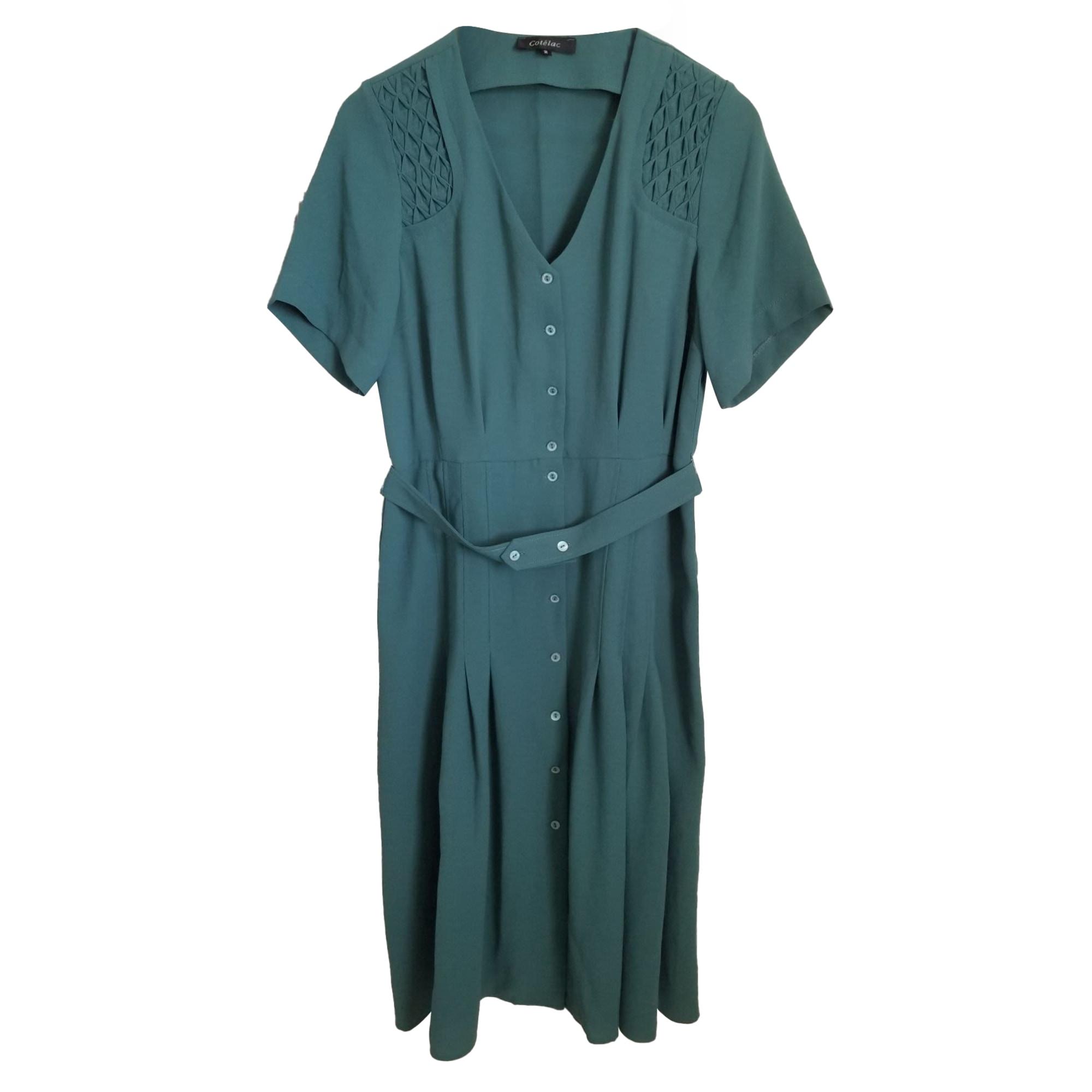 Robe mi-longue COTÉLAC Vert