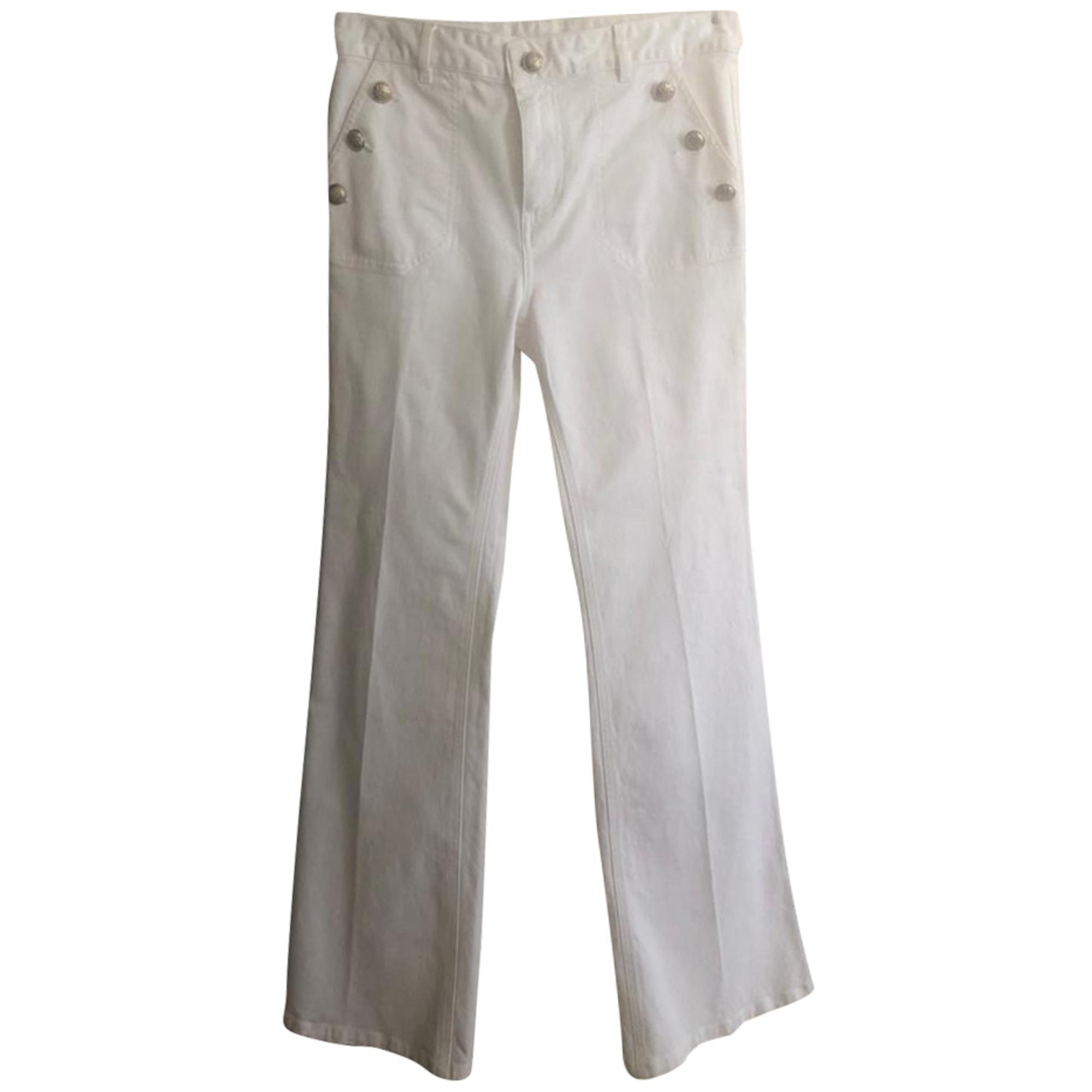 Pantalon large GERARD DAREL Blanc, blanc cassé, écru