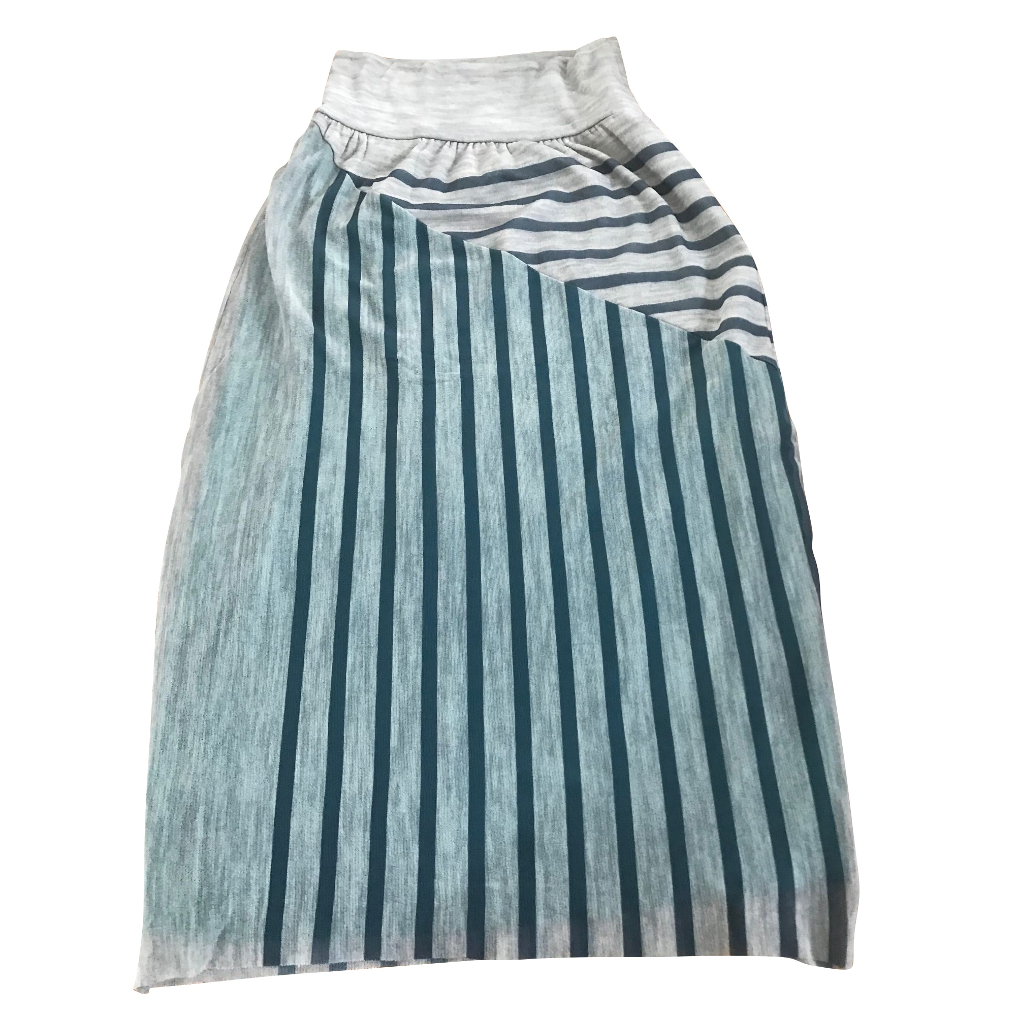 Jupe mi-longue JEAN PAUL GAULTIER Bleu, bleu marine, bleu turquoise