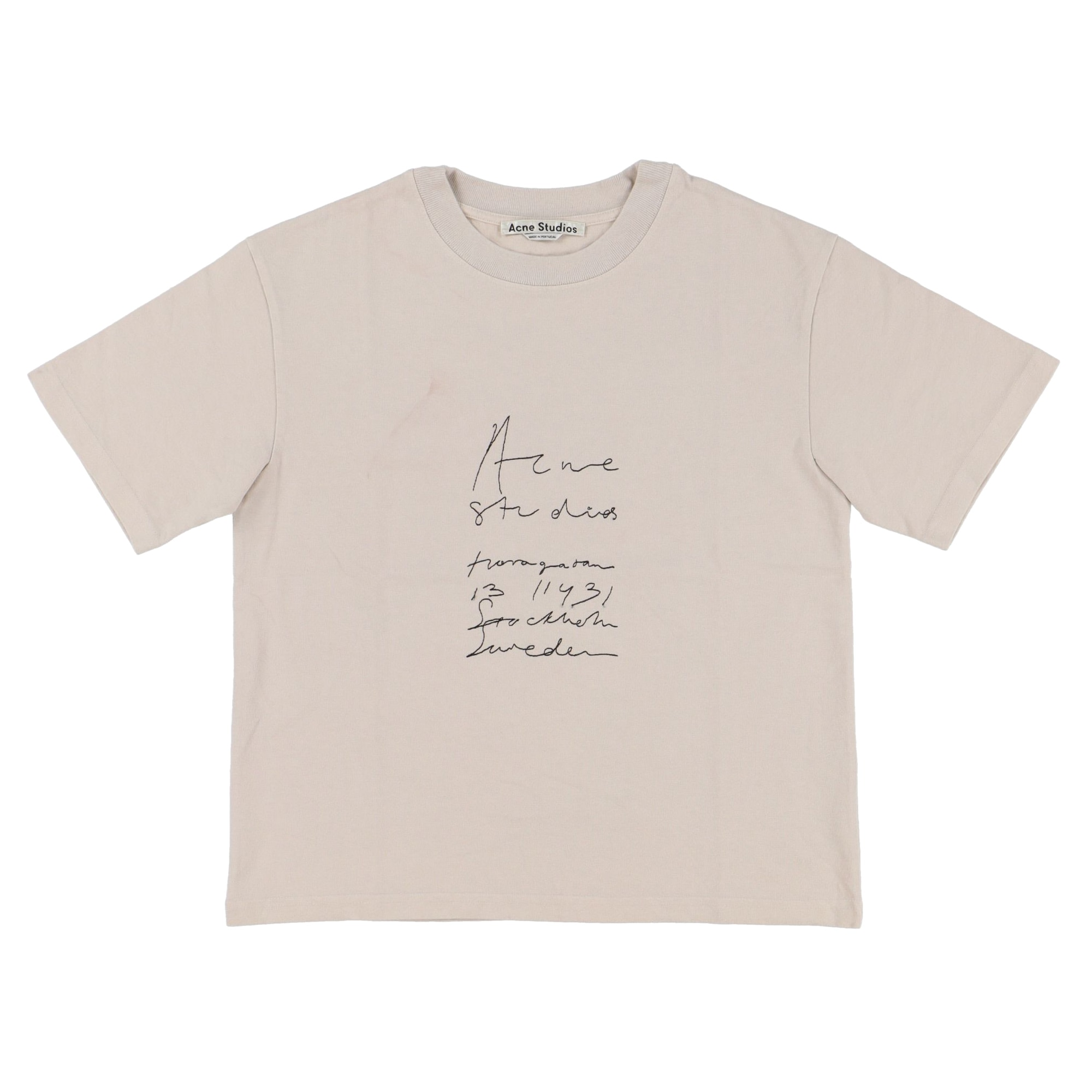 Tee-shirt ACNE Marron