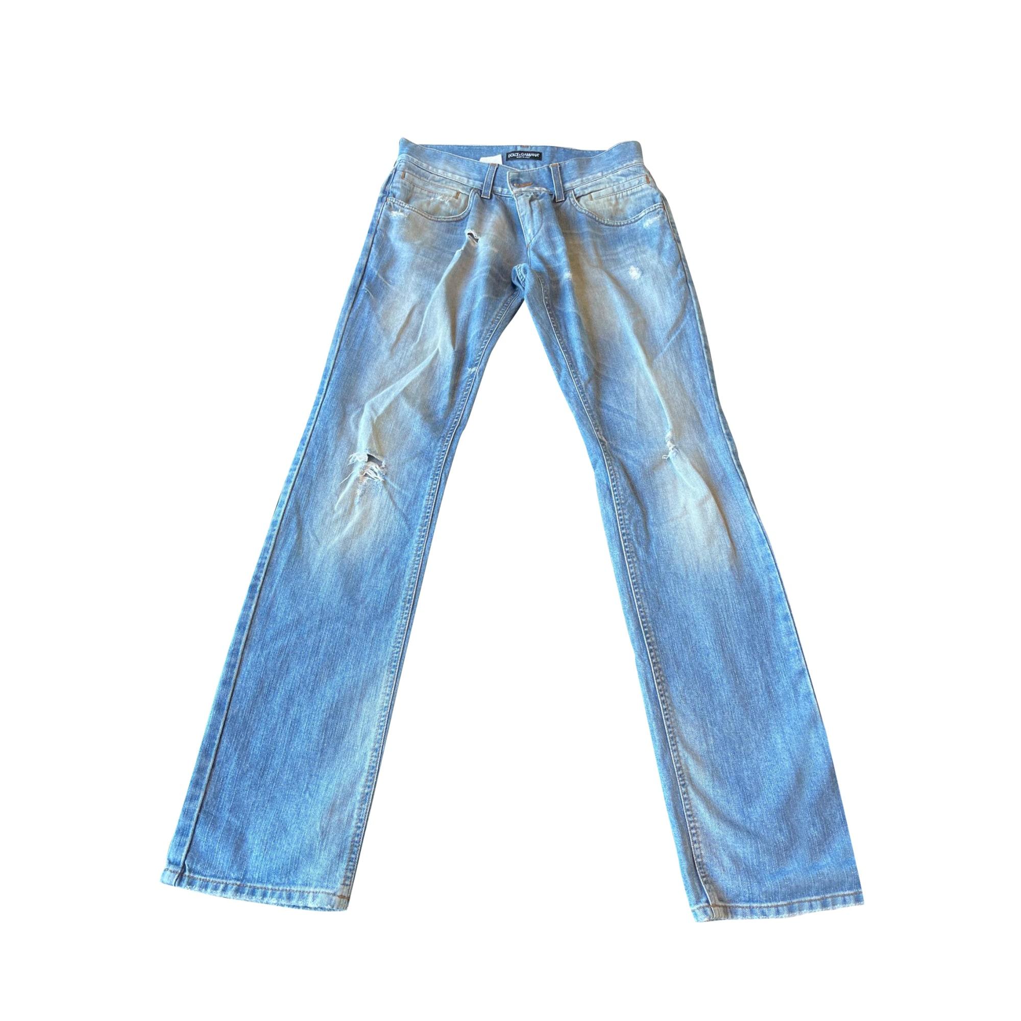 Straight Leg Jeans DOLCE & GABBANA Blue, navy, turquoise