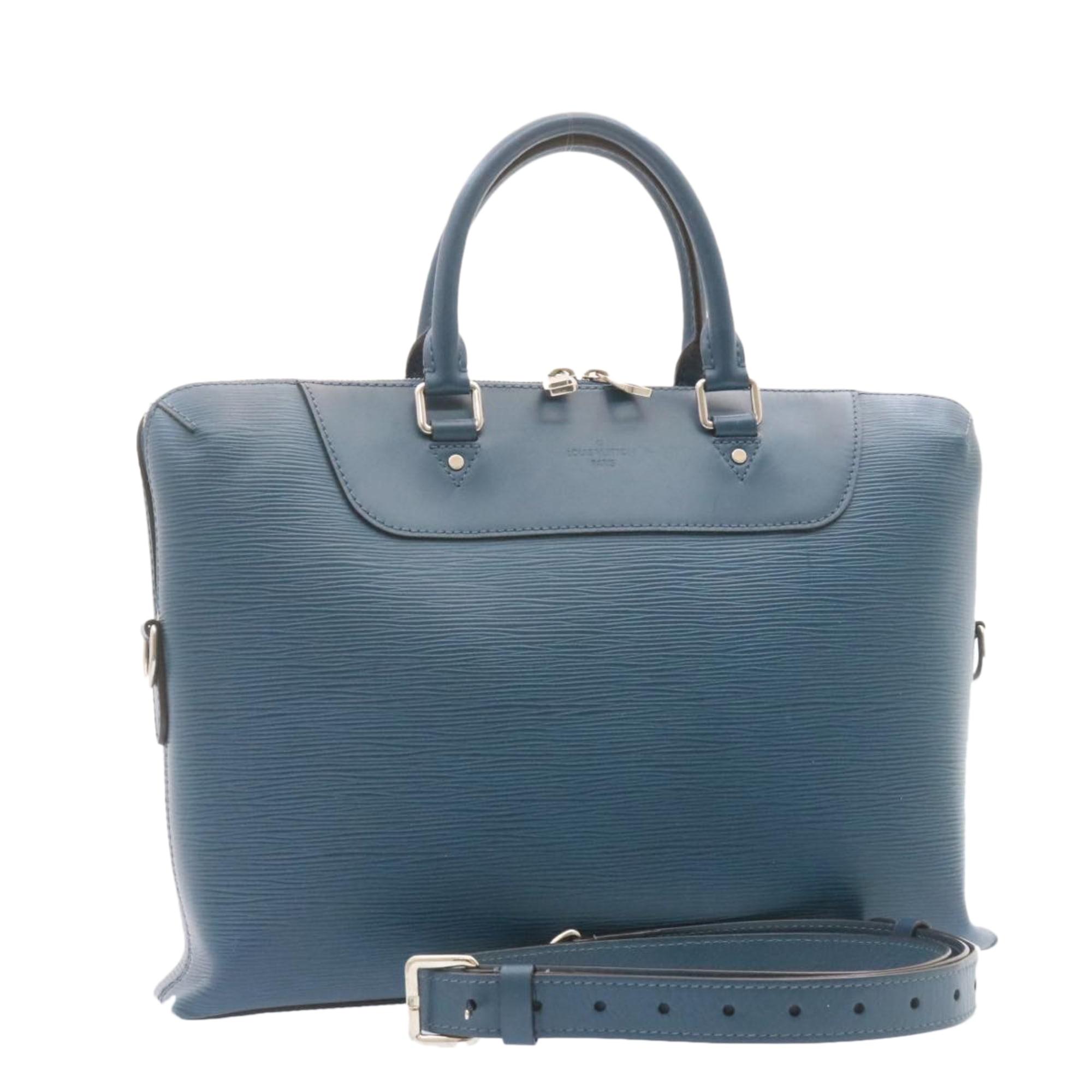 Mallette LOUIS VUITTON Bleu, bleu marine, bleu turquoise
