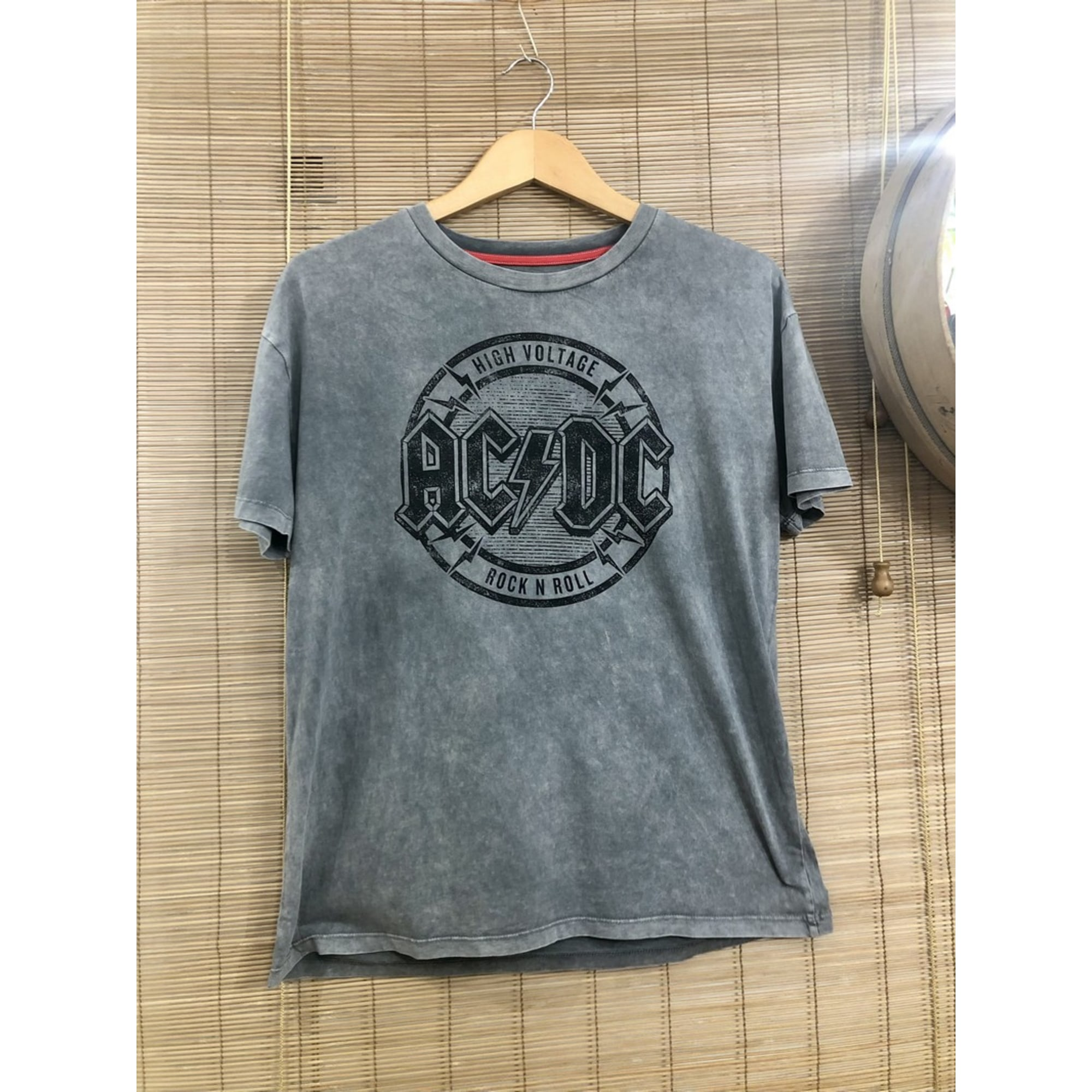 Top, tee-shirt ACDC Gris, anthracite