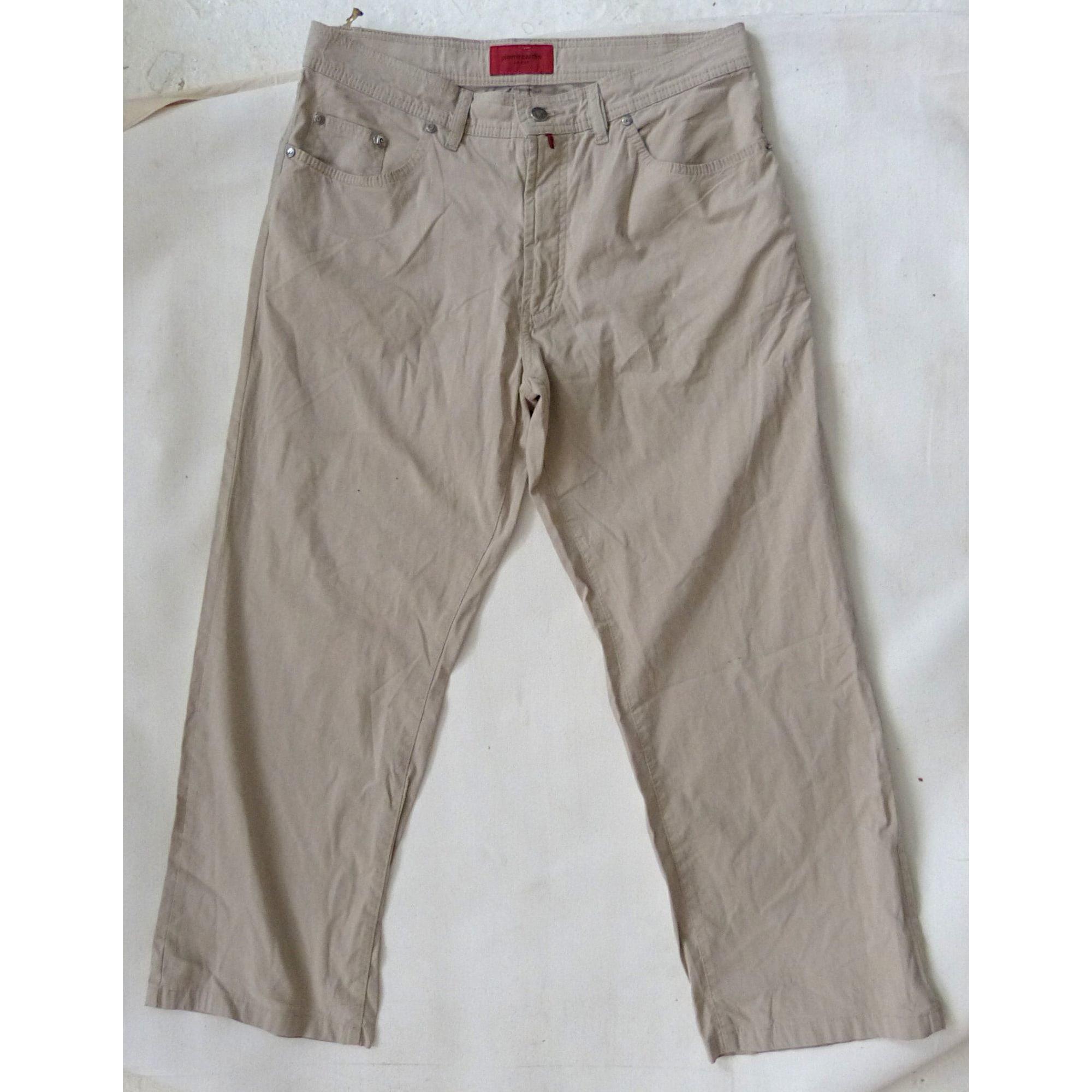 Straight Leg Jeans PIERRE CARDIN Beige, camel