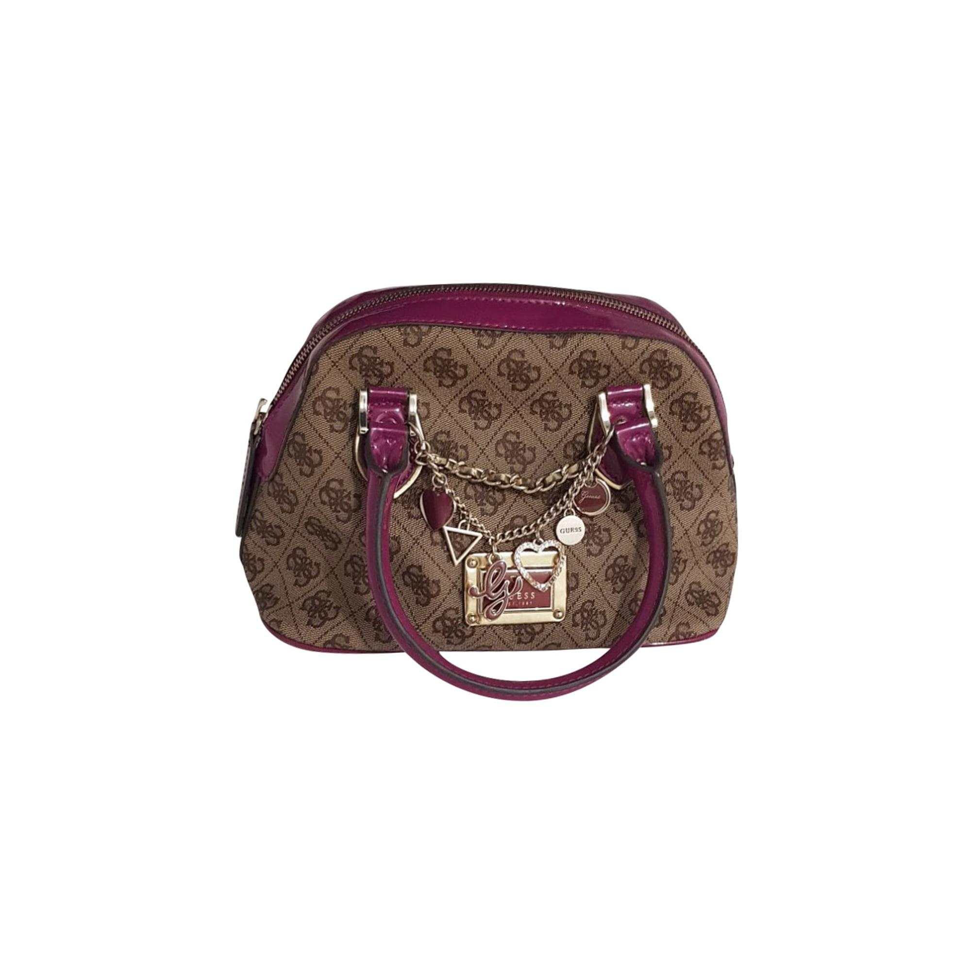 Lederhandtasche GUESS Violett, malvenfarben, lavendelfarben
