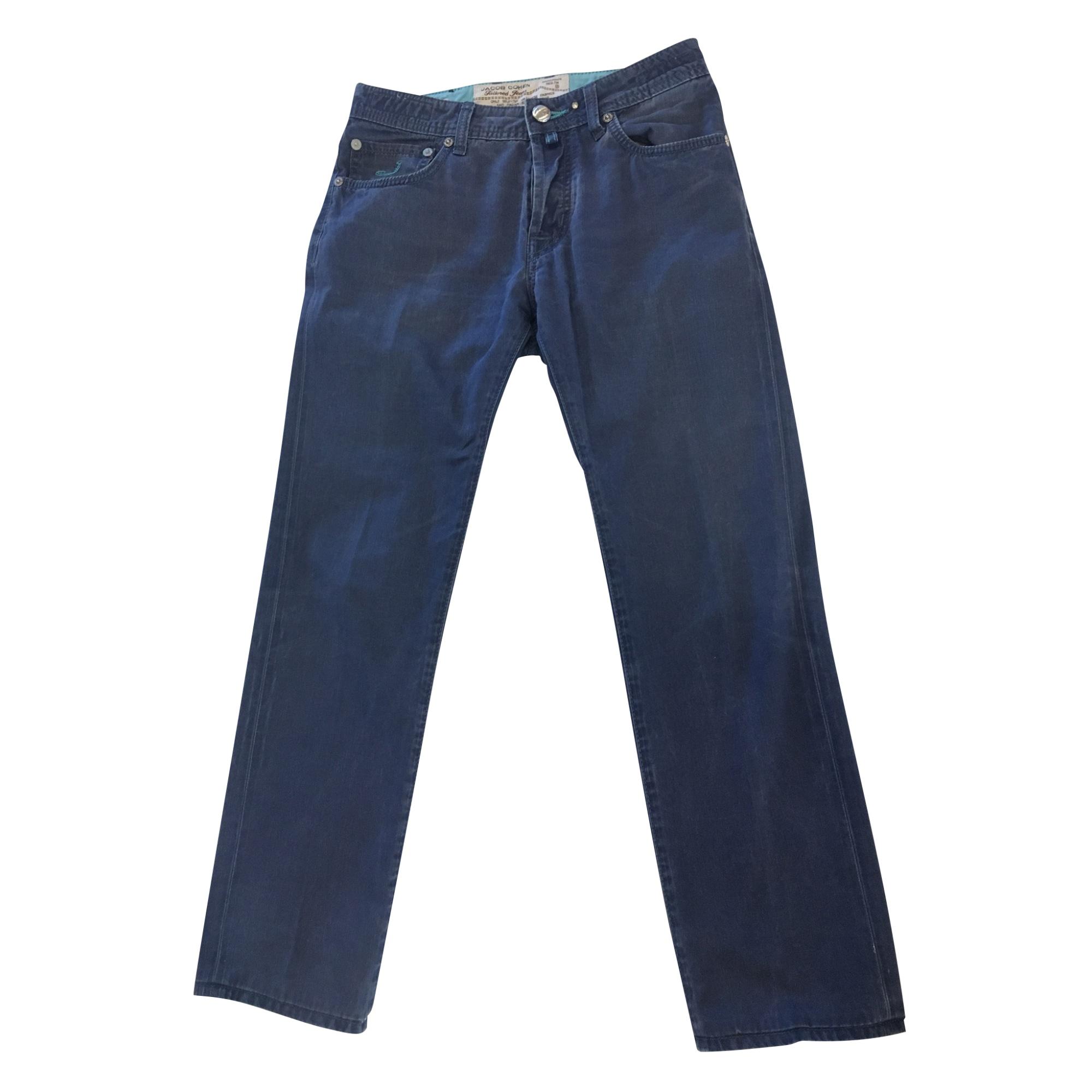 Straight Leg Pants JACOB COHEN Blue, navy, turquoise