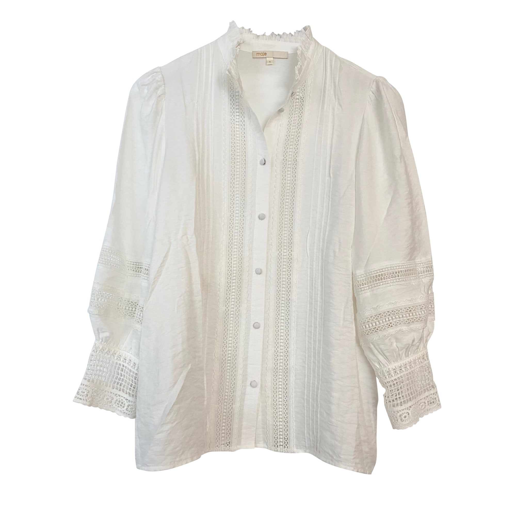 Chemise MAJE Blanc, blanc cassé, écru