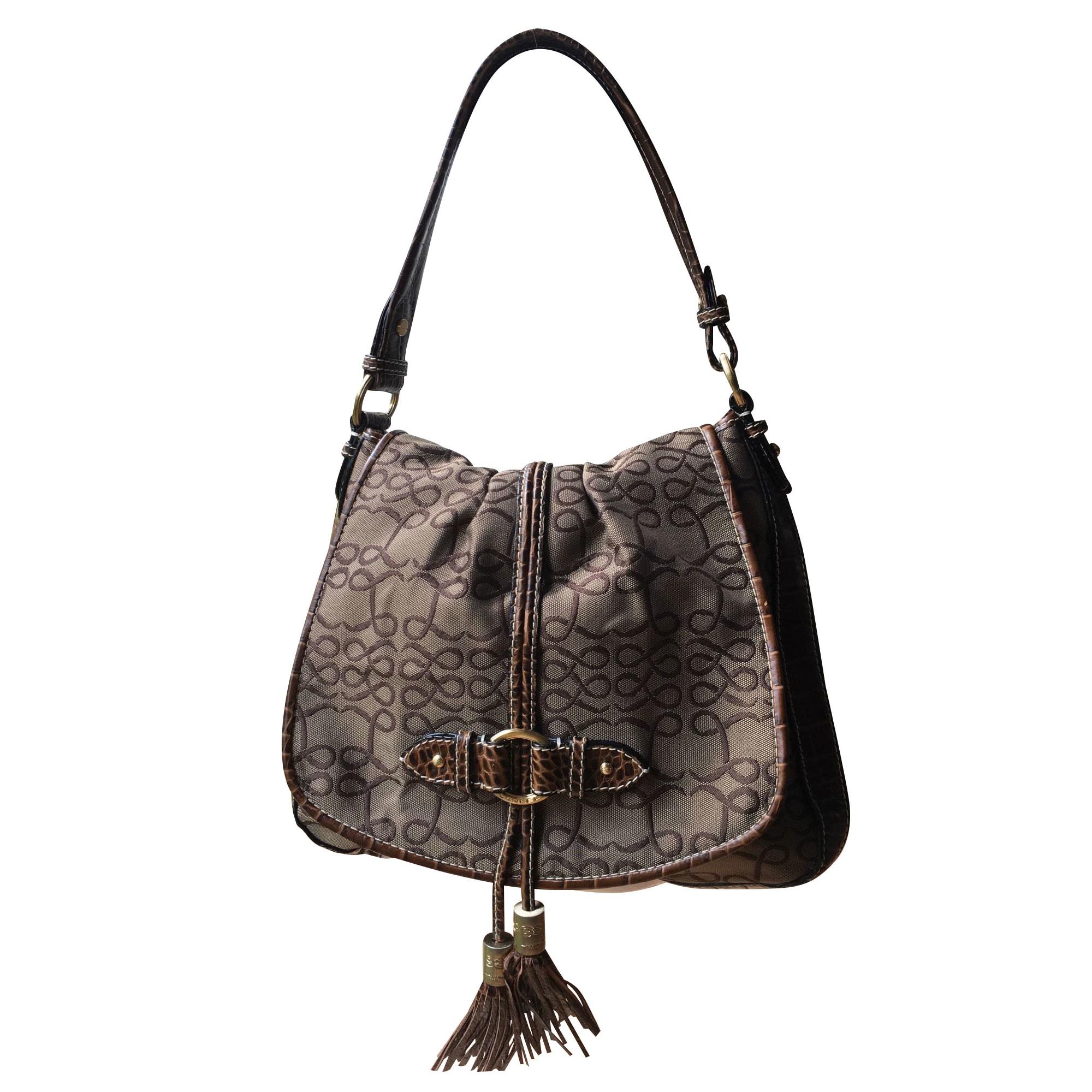 Leather Handbag LANCEL Brown