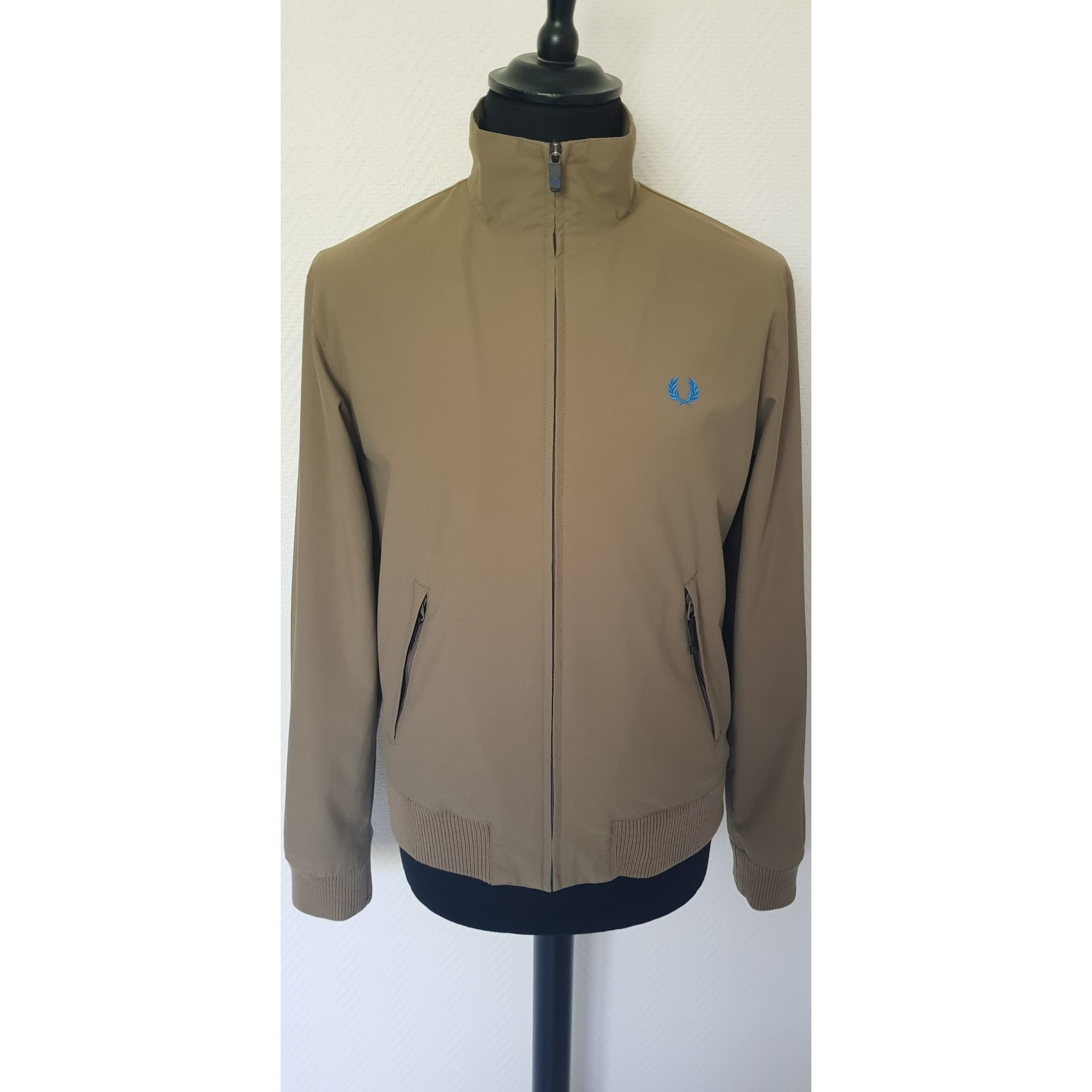 Zipped Jacket FRED PERRY Beige, camel