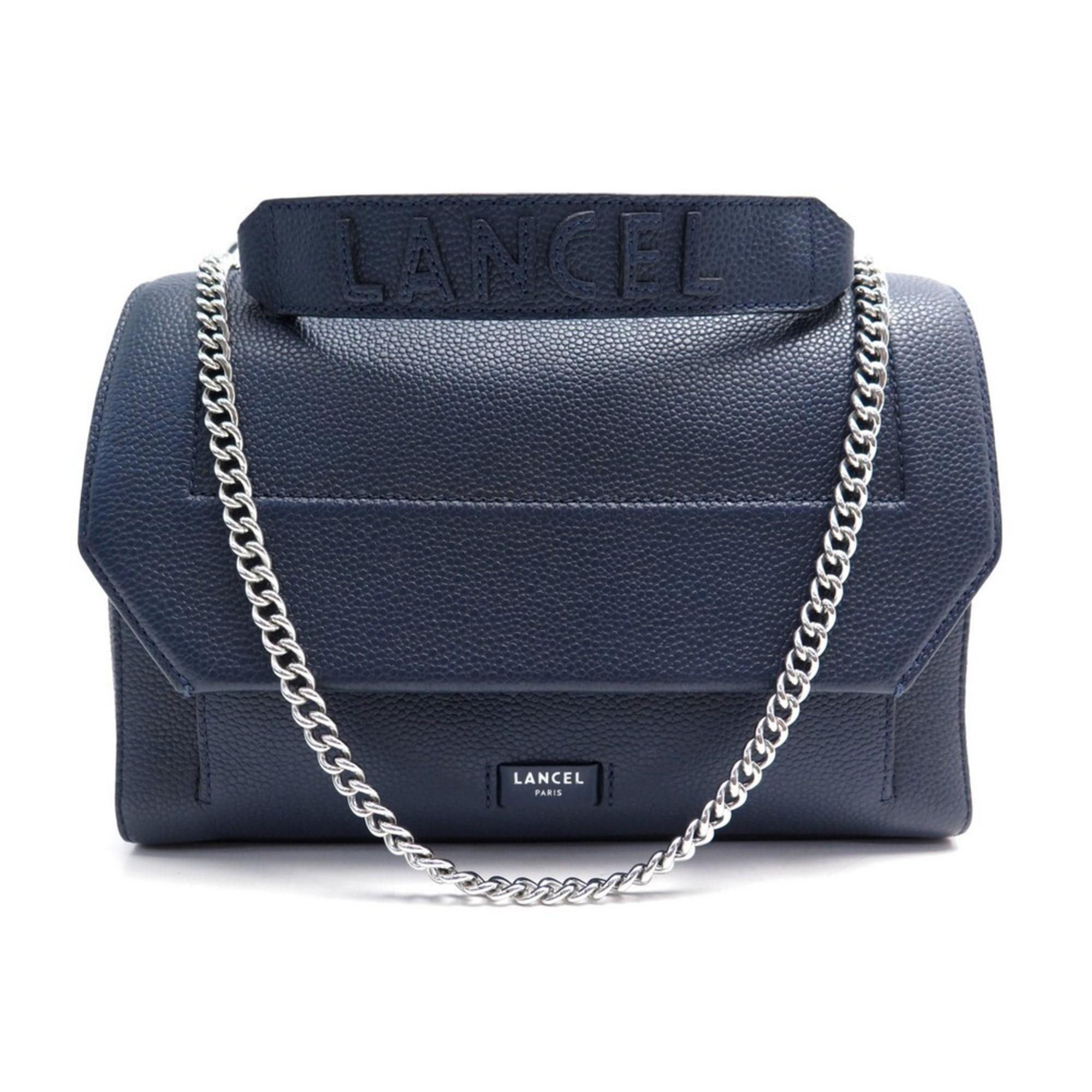 Leather Handbag LANCEL Bleu