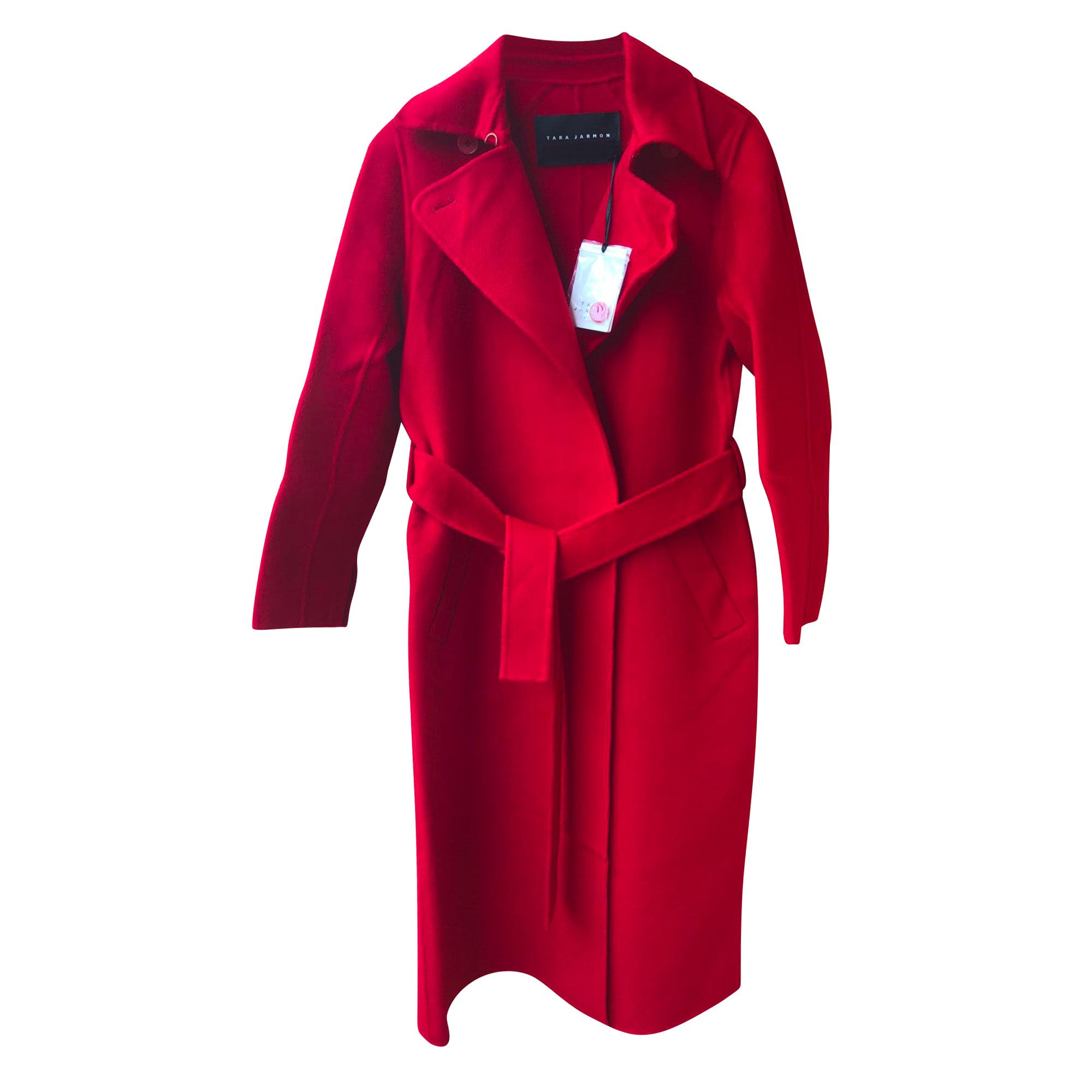 Coat TARA JARMON Red, burgundy