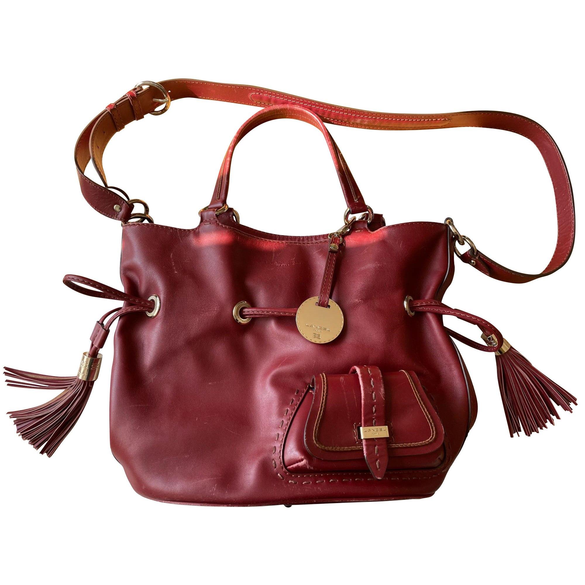 Leather Handbag LANCEL Green