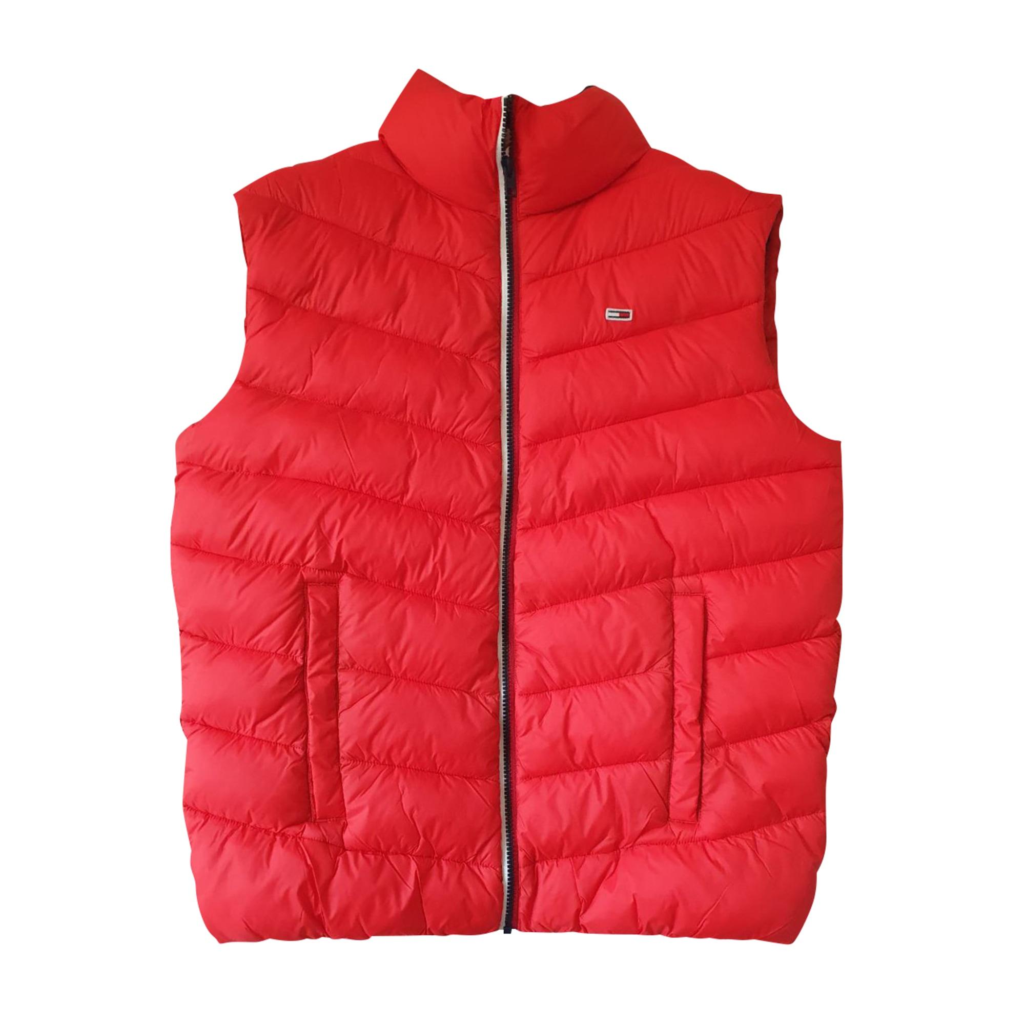 Down Jacket TOMMY HILFIGER Red, burgundy