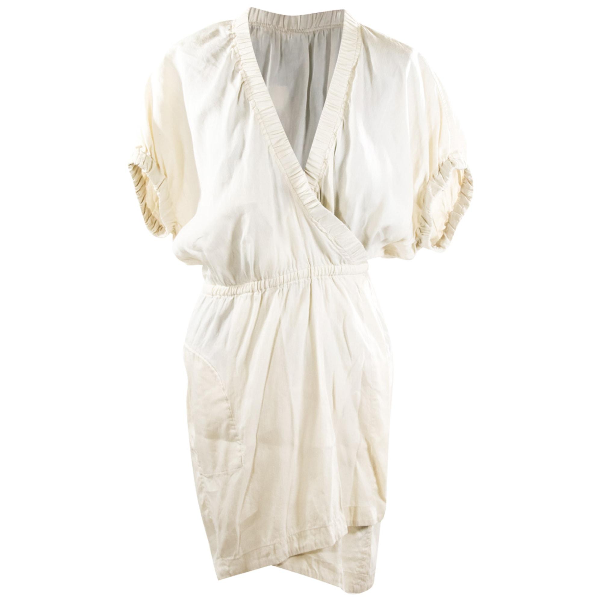 Robe mi-longue ISABEL MARANT Blanc, blanc cassé, écru