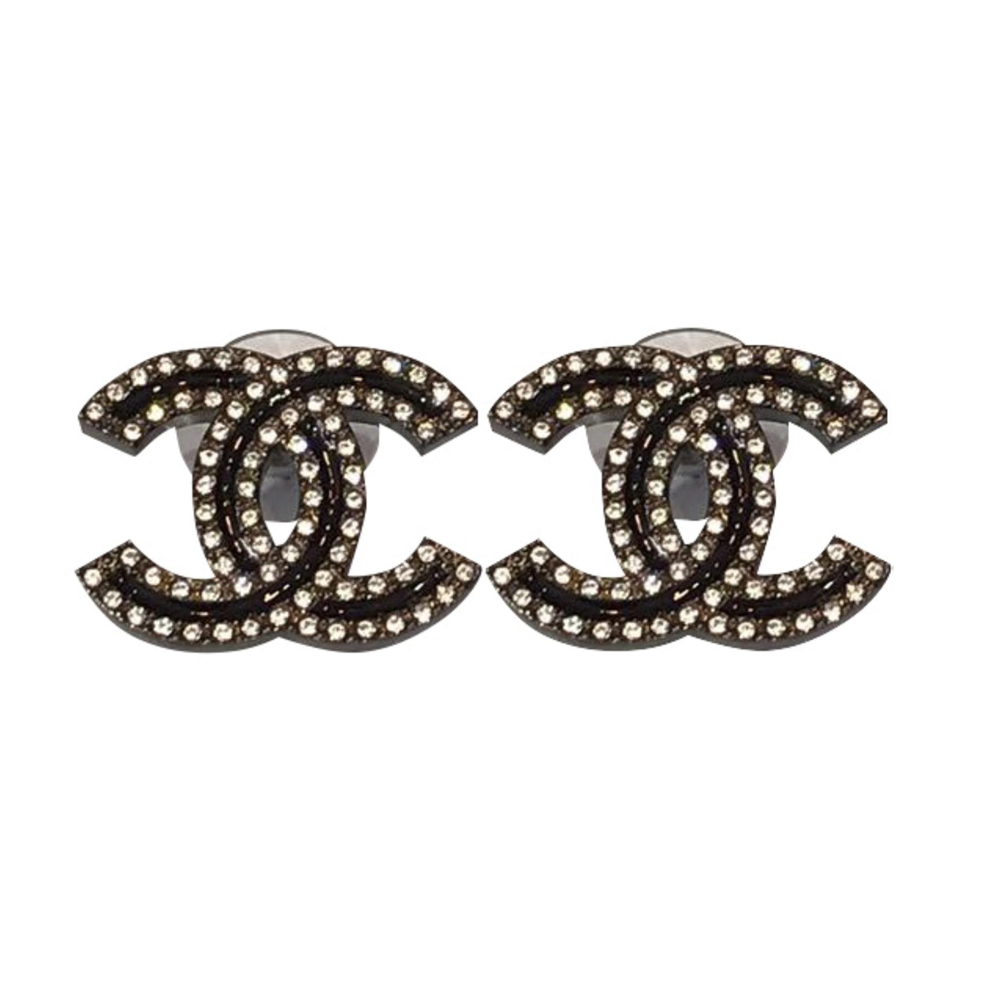 Earrings CHANEL Black